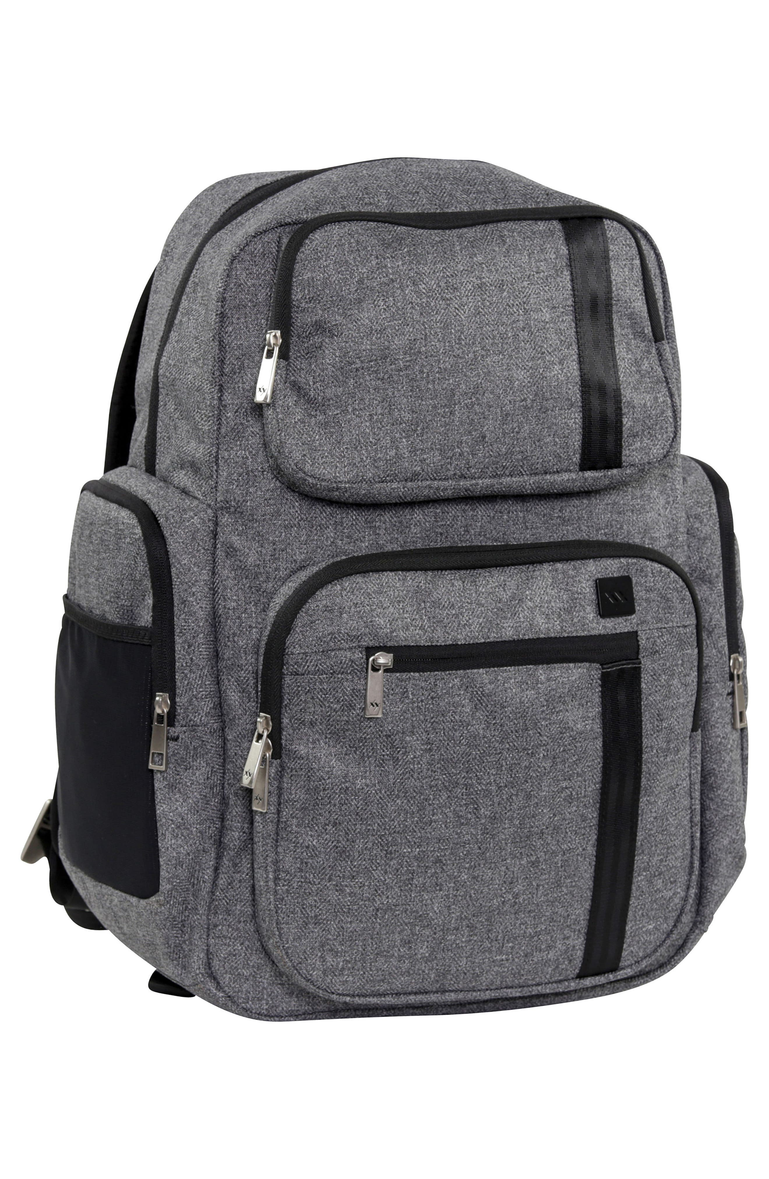 JU-JU-BE, XY Vector Diaper Backpack, Alternate thumbnail 5, color, GRAY MATTER
