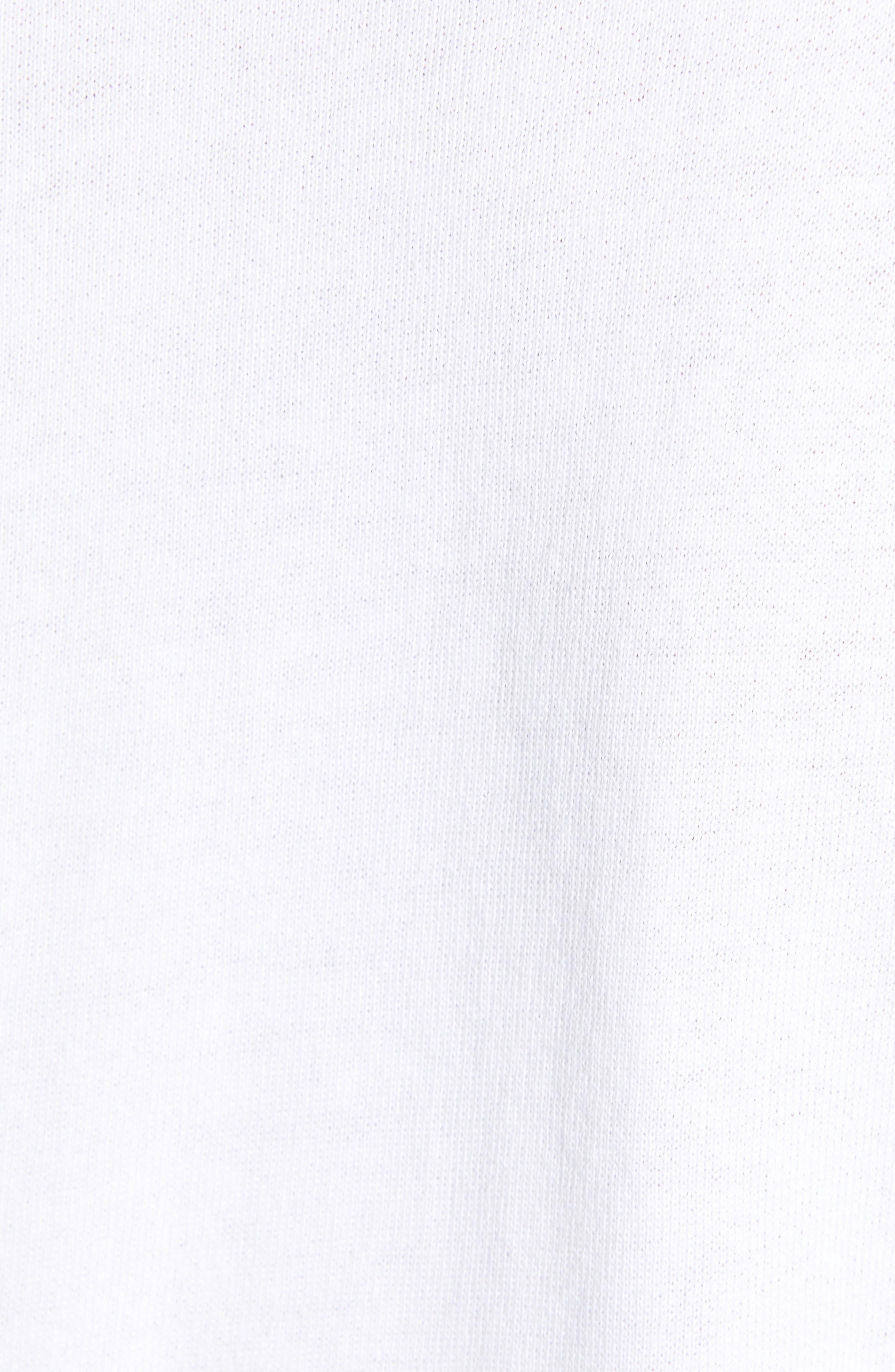 CASLON<SUP>®</SUP>, Eyelet Peplum Sweatshirt, Alternate thumbnail 5, color, WHITE