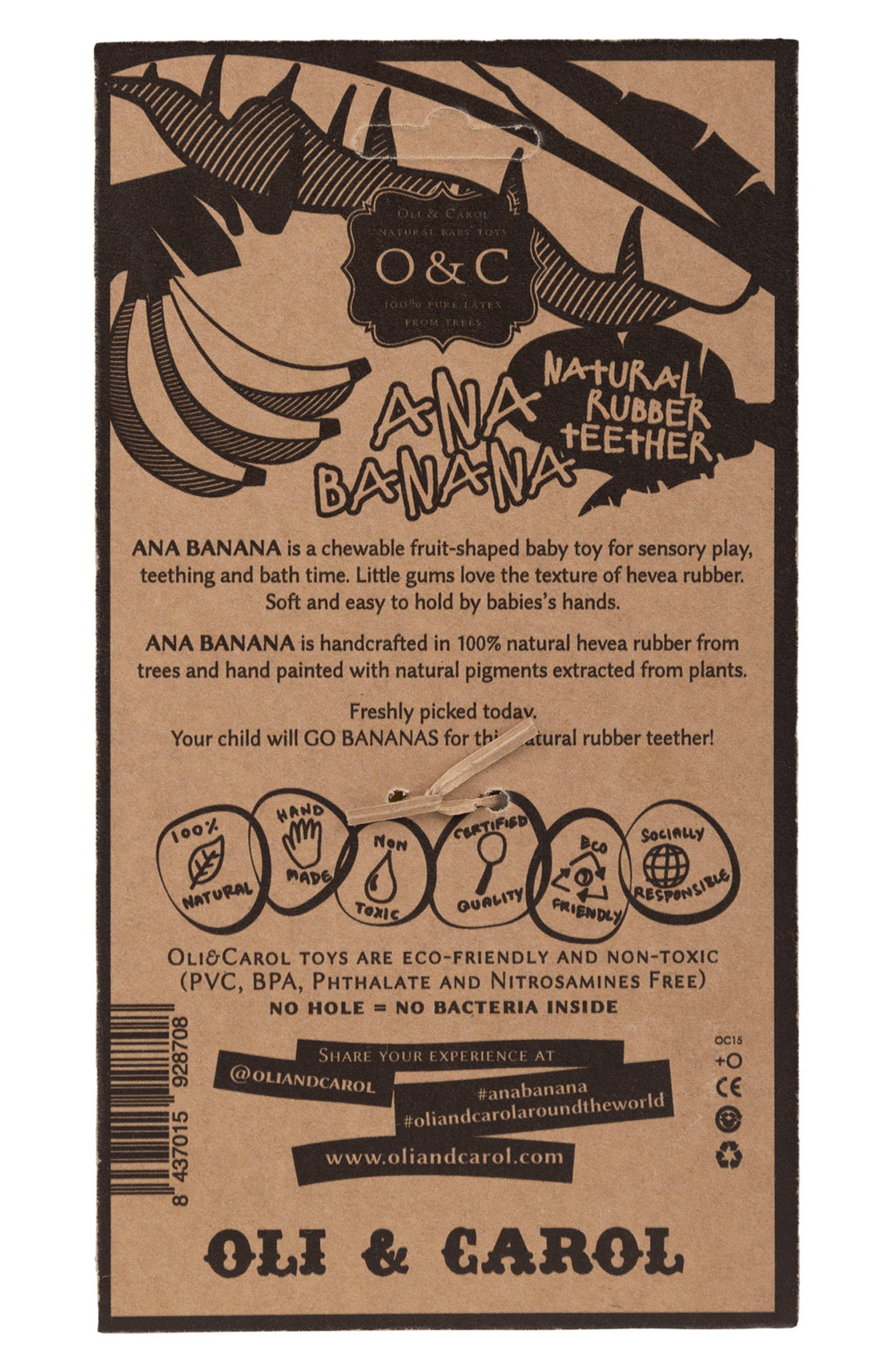 OLI & CAROL, Oli and Carol Ana Banana Teething Toy, Alternate thumbnail 4, color, 700