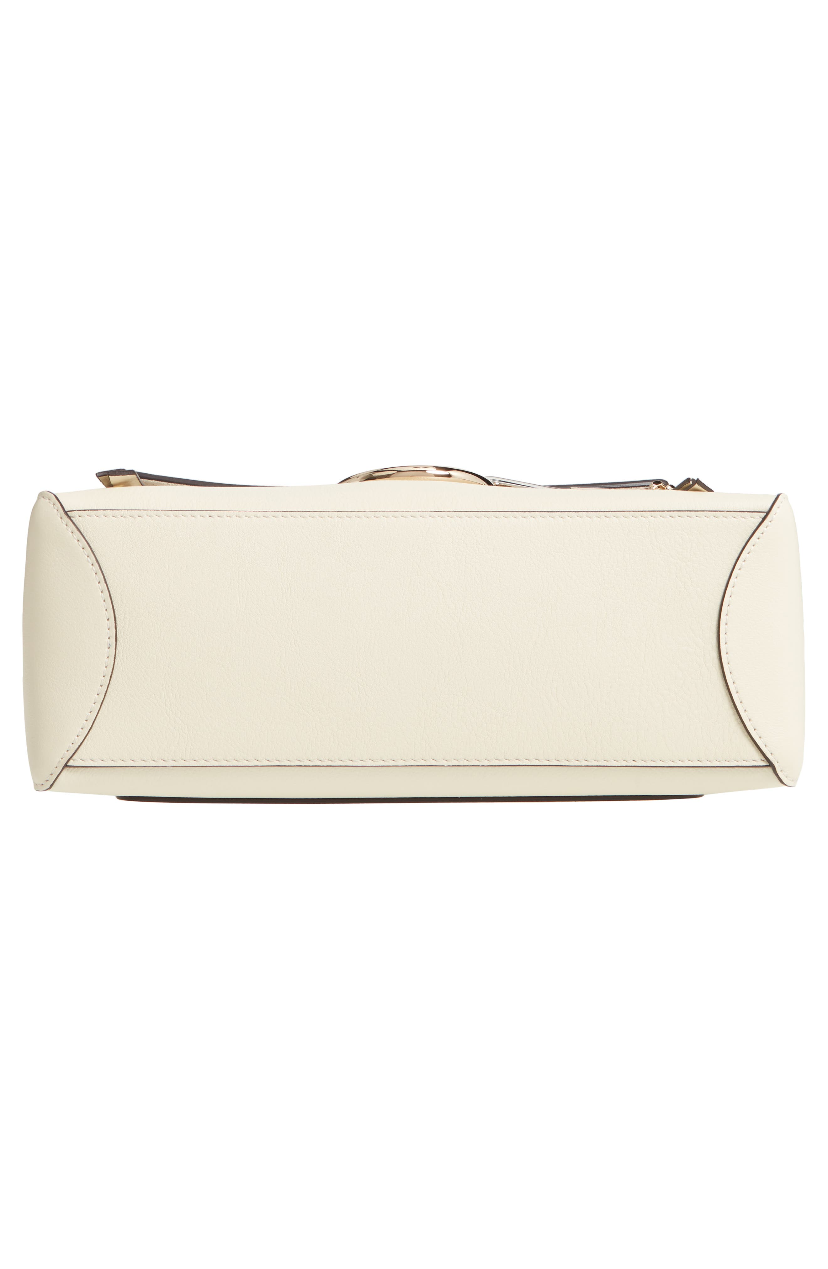 CHLOÉ, Small Faye Day Leather Shoulder Bag, Alternate thumbnail 6, color, OFF WHITE