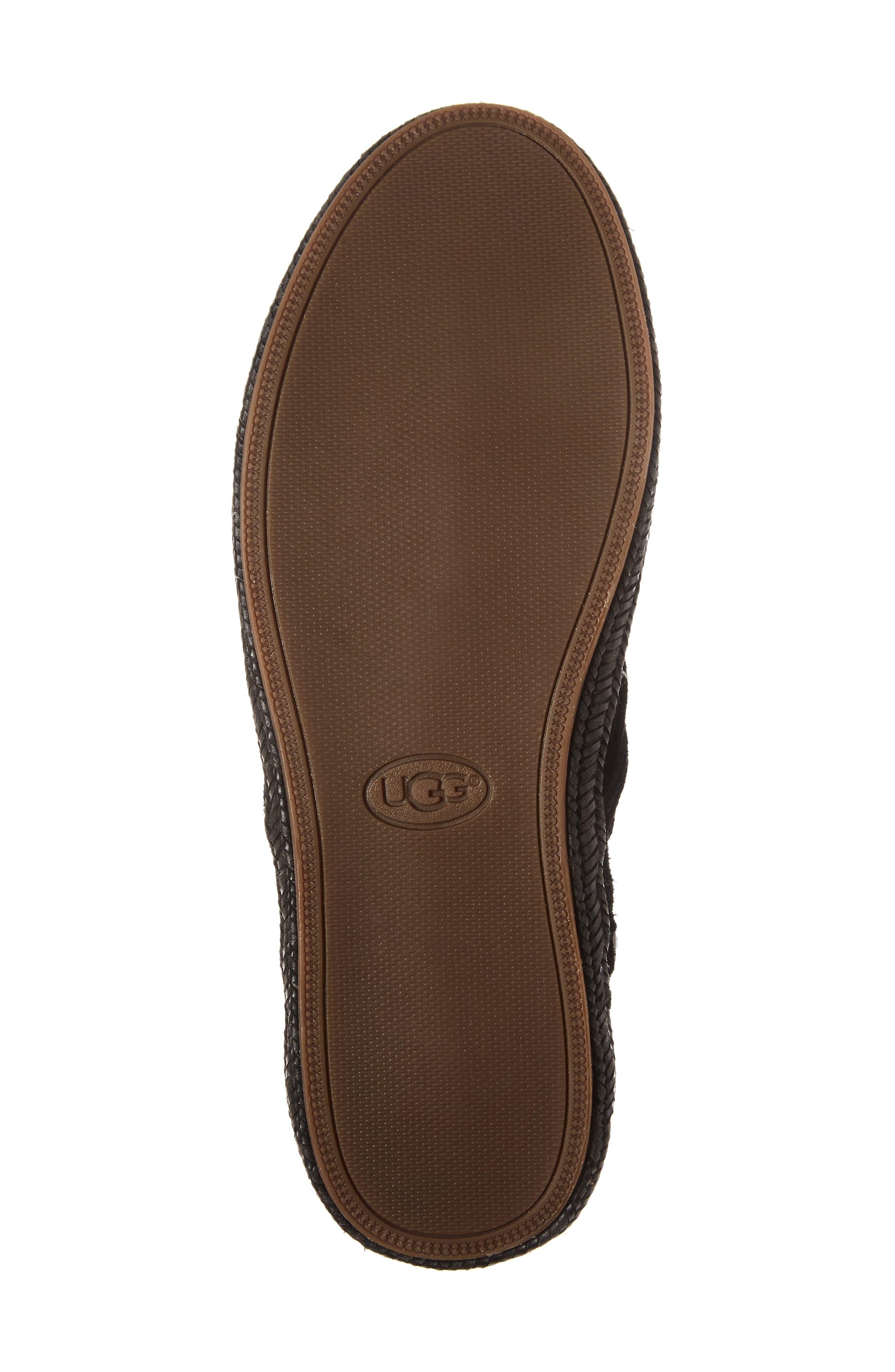 UGG<SUP>®</SUP>, Reid Boot, Alternate thumbnail 6, color, BLACK SUEDE