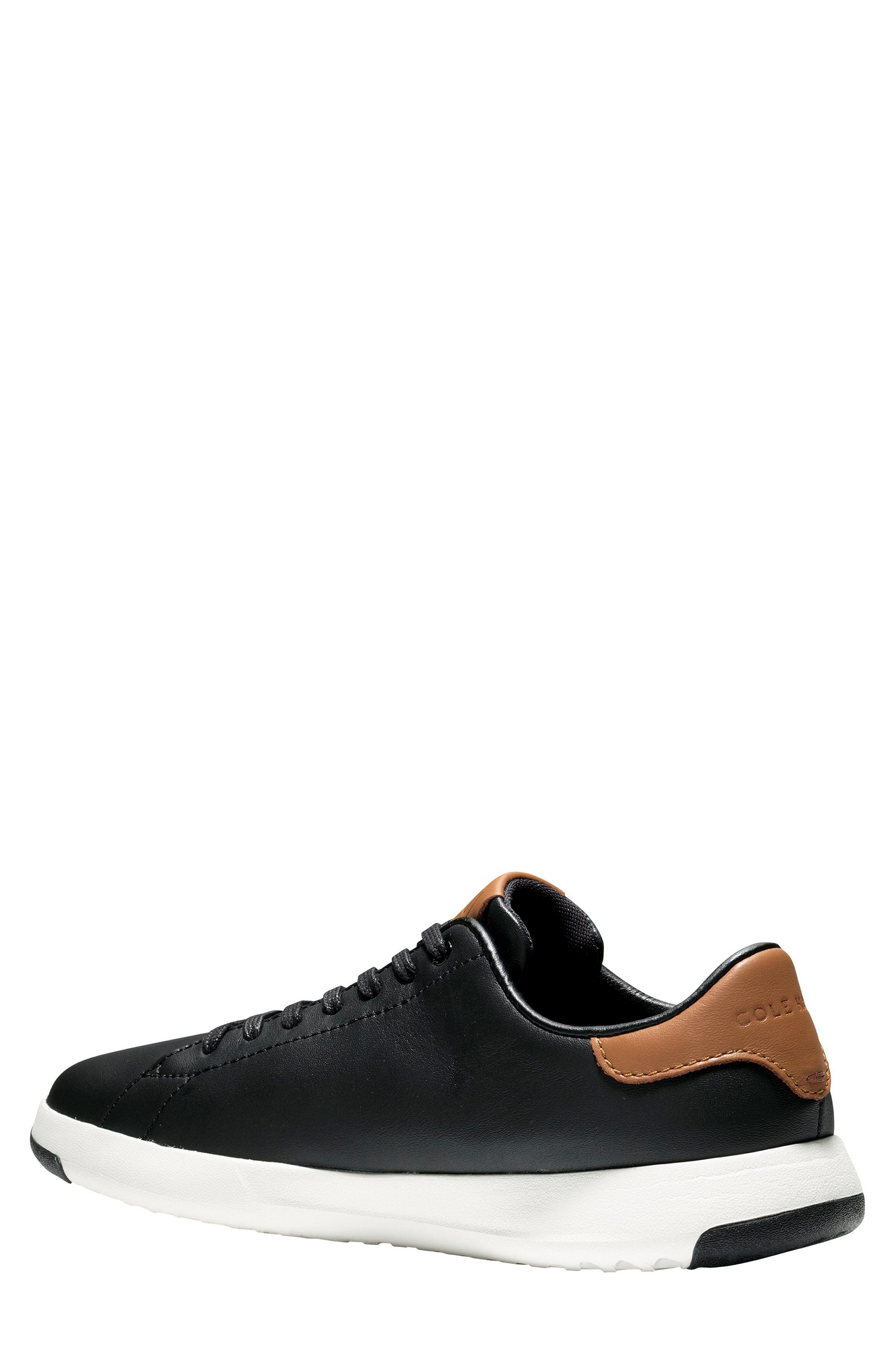 COLE HAAN, GrandPro Tennis Sneaker, Alternate thumbnail 2, color, BLACK/ BRITISH TAN