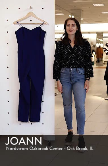 Strapless Slim Leg Jumpsuit, sales video thumbnail