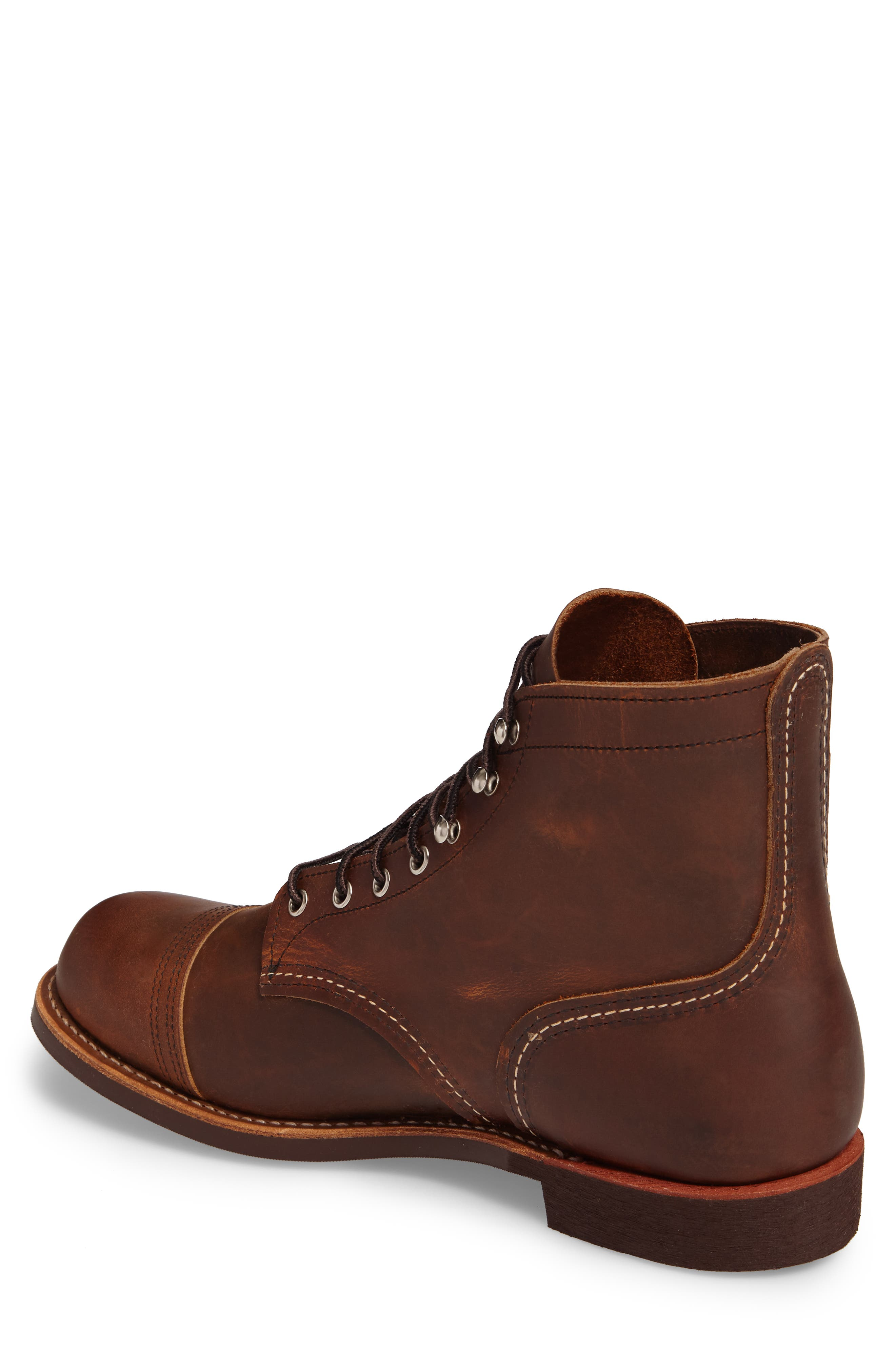 RED WING, Iron Ranger Cap Toe Boot, Alternate thumbnail 2, color, COPPER LEATHER