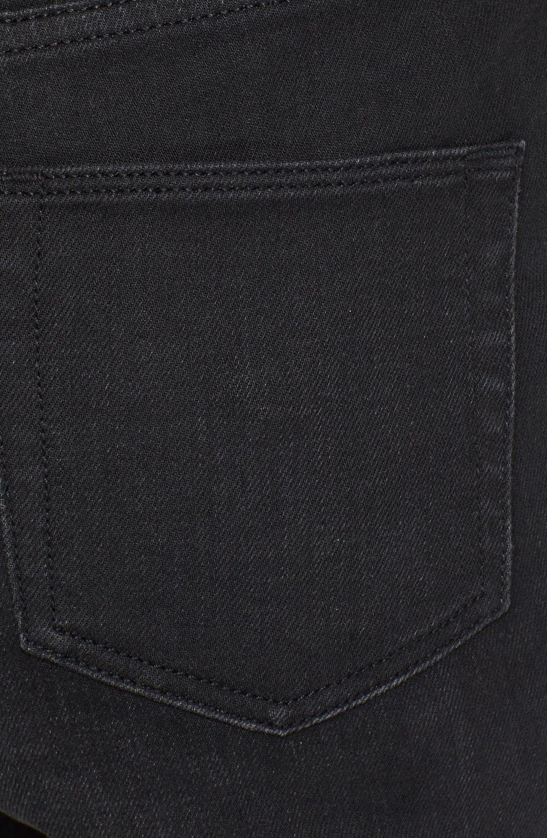 BURBERRY BRIT, Skinny Jeans, Alternate thumbnail 3, color, 001