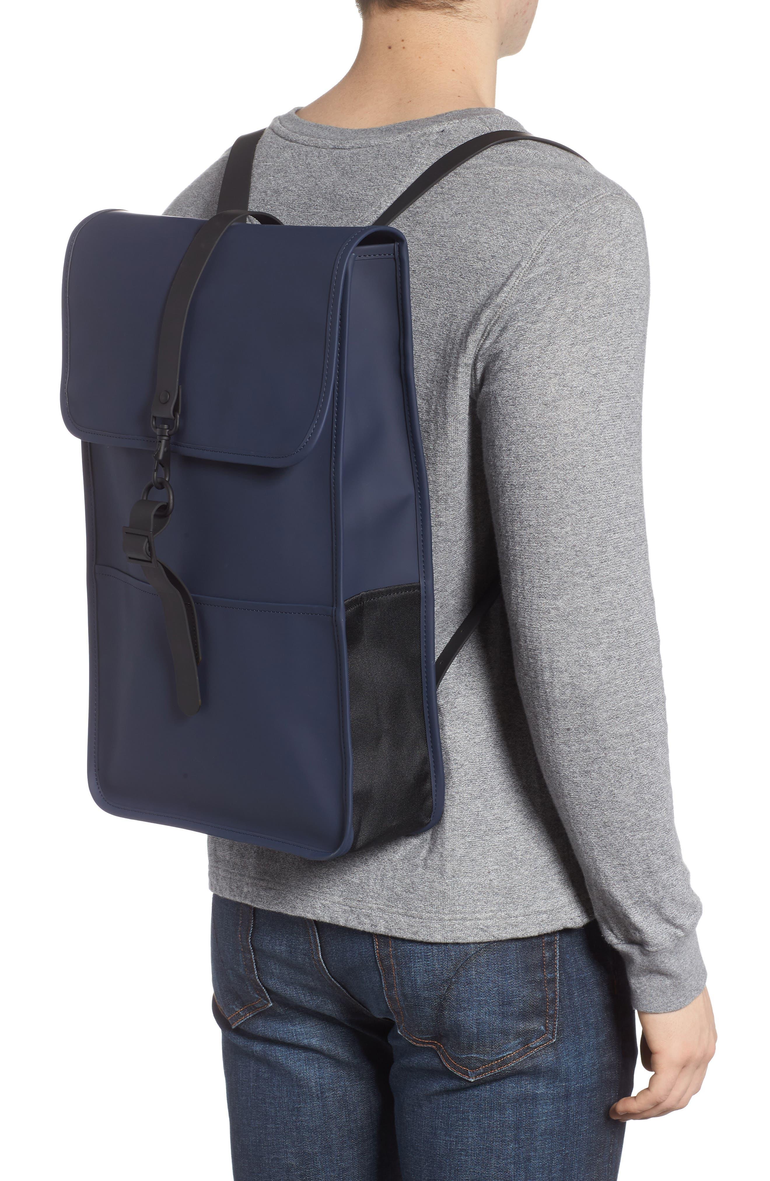 RAINS, Waterproof Backpack, Alternate thumbnail 2, color, BLUE