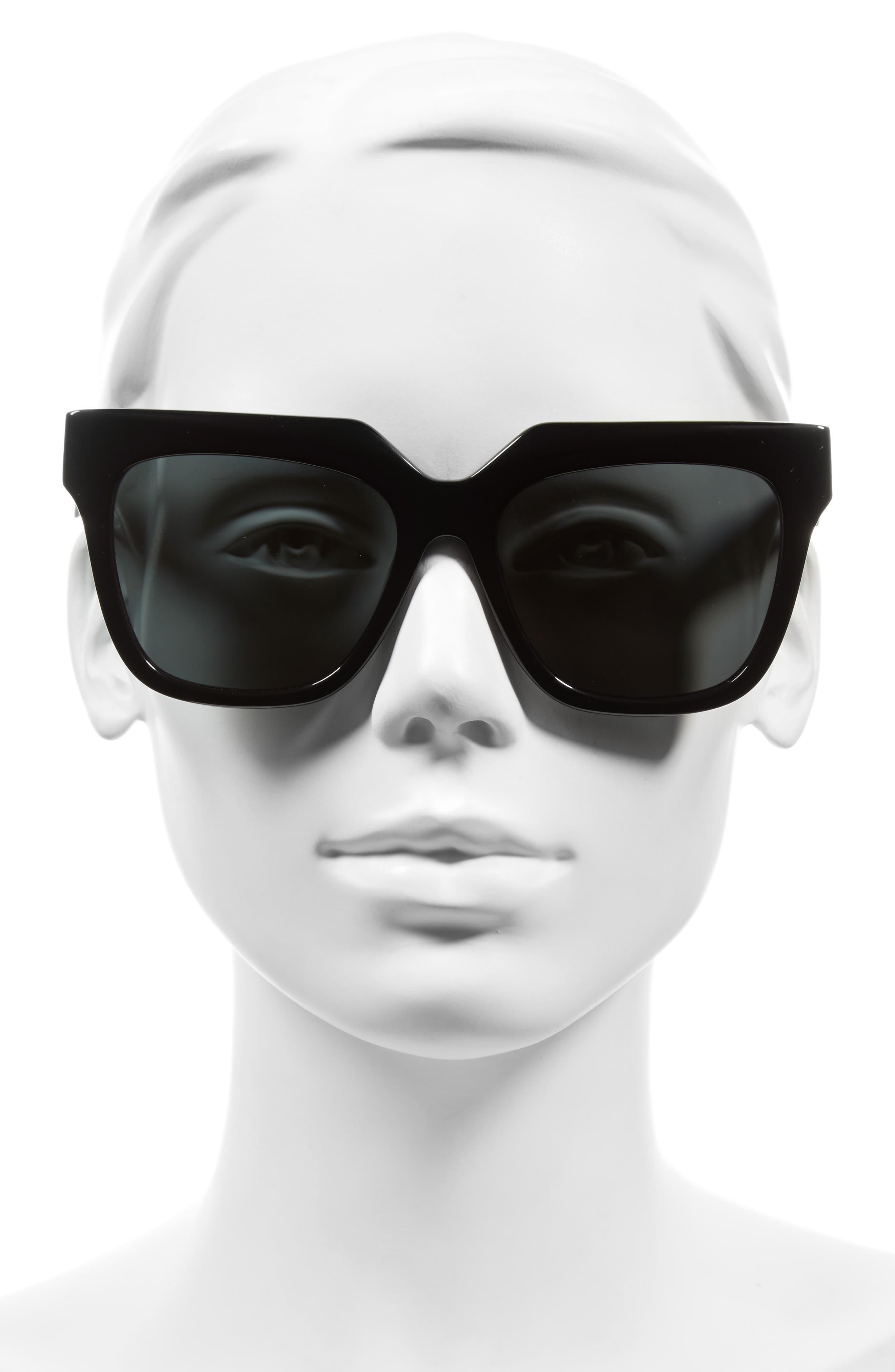 SONIX, Avalon 57mm Retro Sunglasses, Alternate thumbnail 2, color, 001