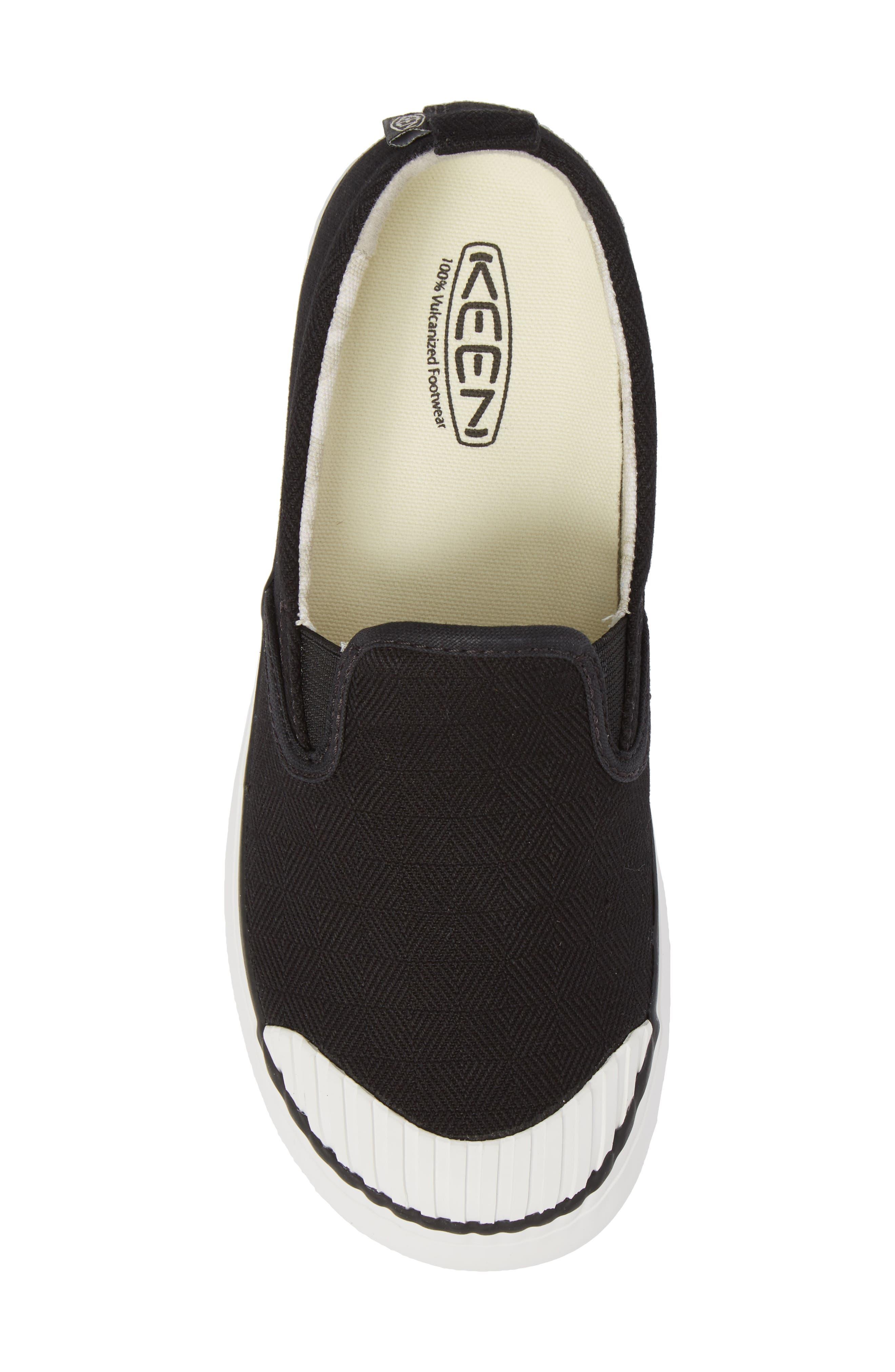 KEEN, Elsa Slip-On Sneaker, Alternate thumbnail 5, color, BLACK/ STAR WHITE