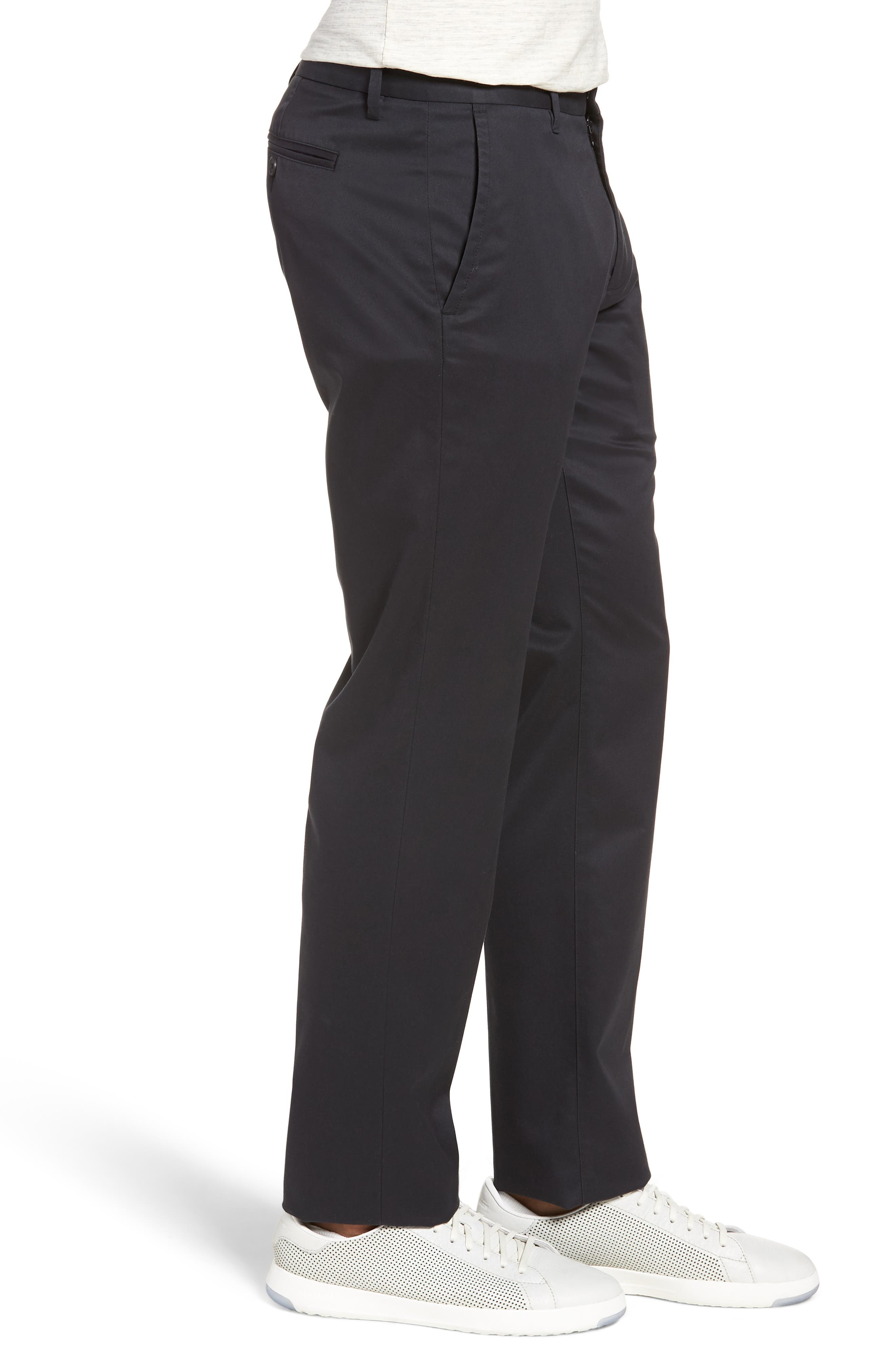 BONOBOS, Weekday Warrior Slim Fit Stretch Dress Pants, Alternate thumbnail 4, color, BLACK