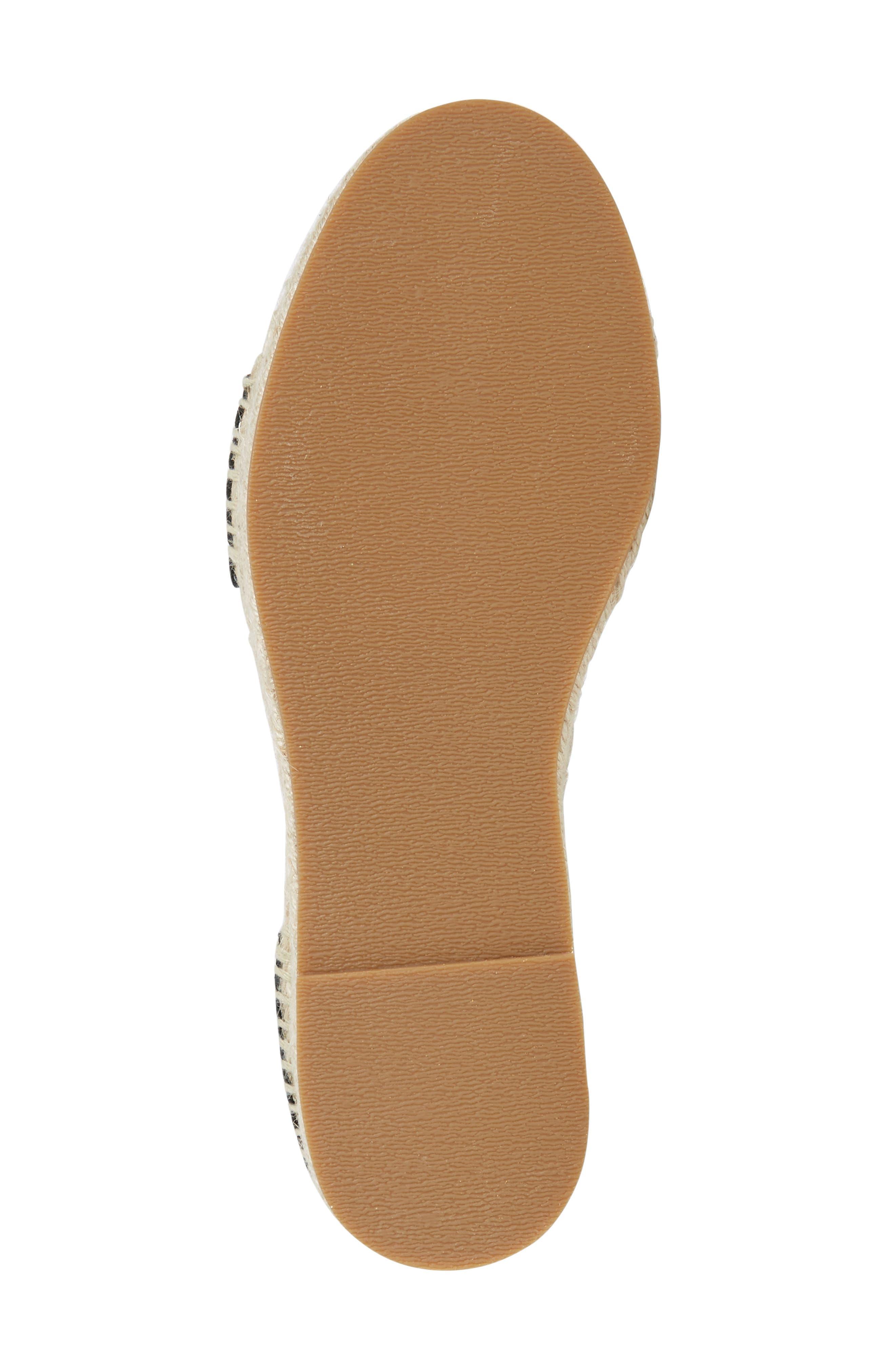 SPLENDID, Jensen Platform Espadrille Sandal, Alternate thumbnail 4, color, 002