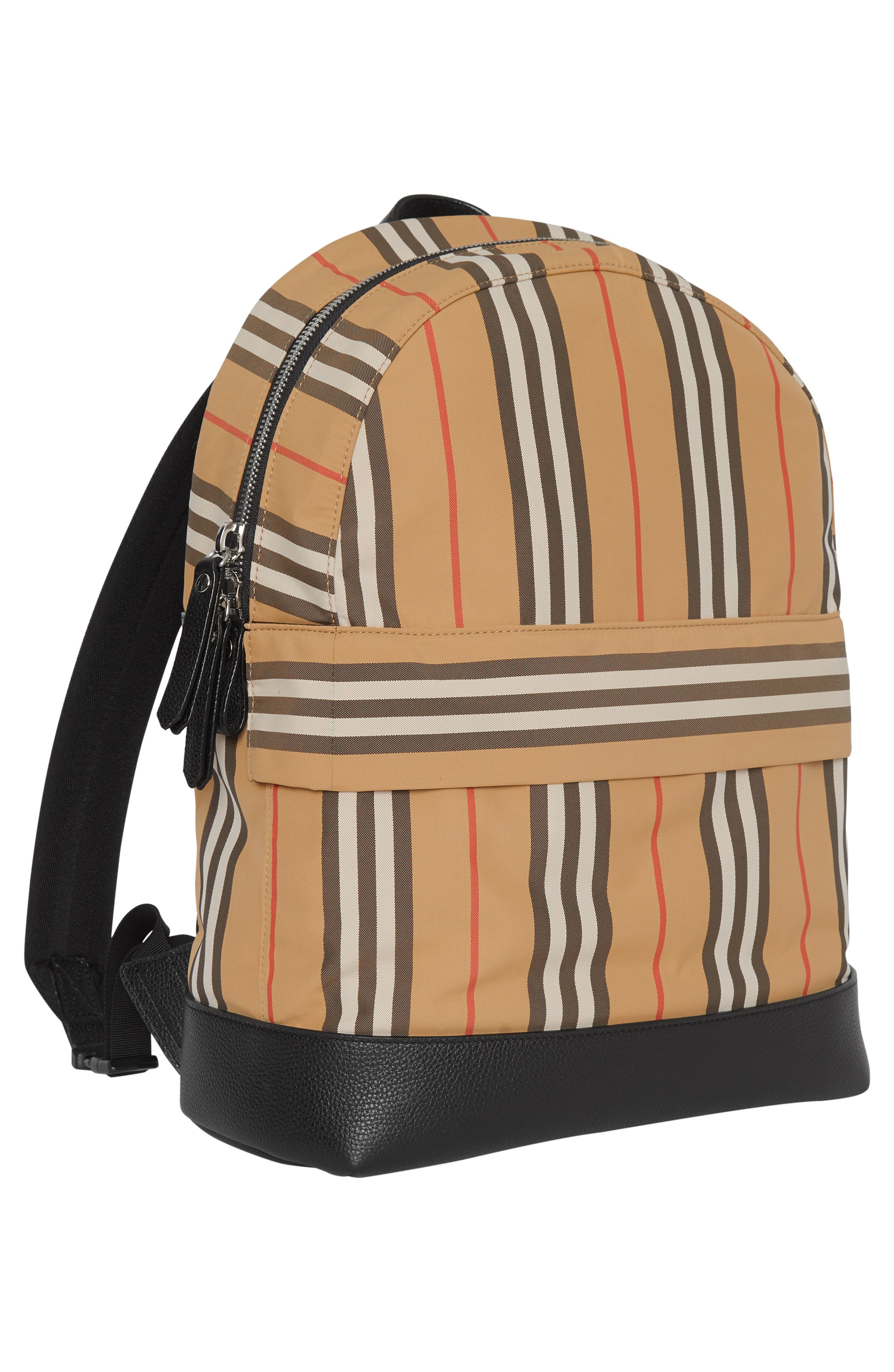 BURBERRY, Nico Archive Stripe Backpack, Alternate thumbnail 4, color, ARCHIVE BEIGE