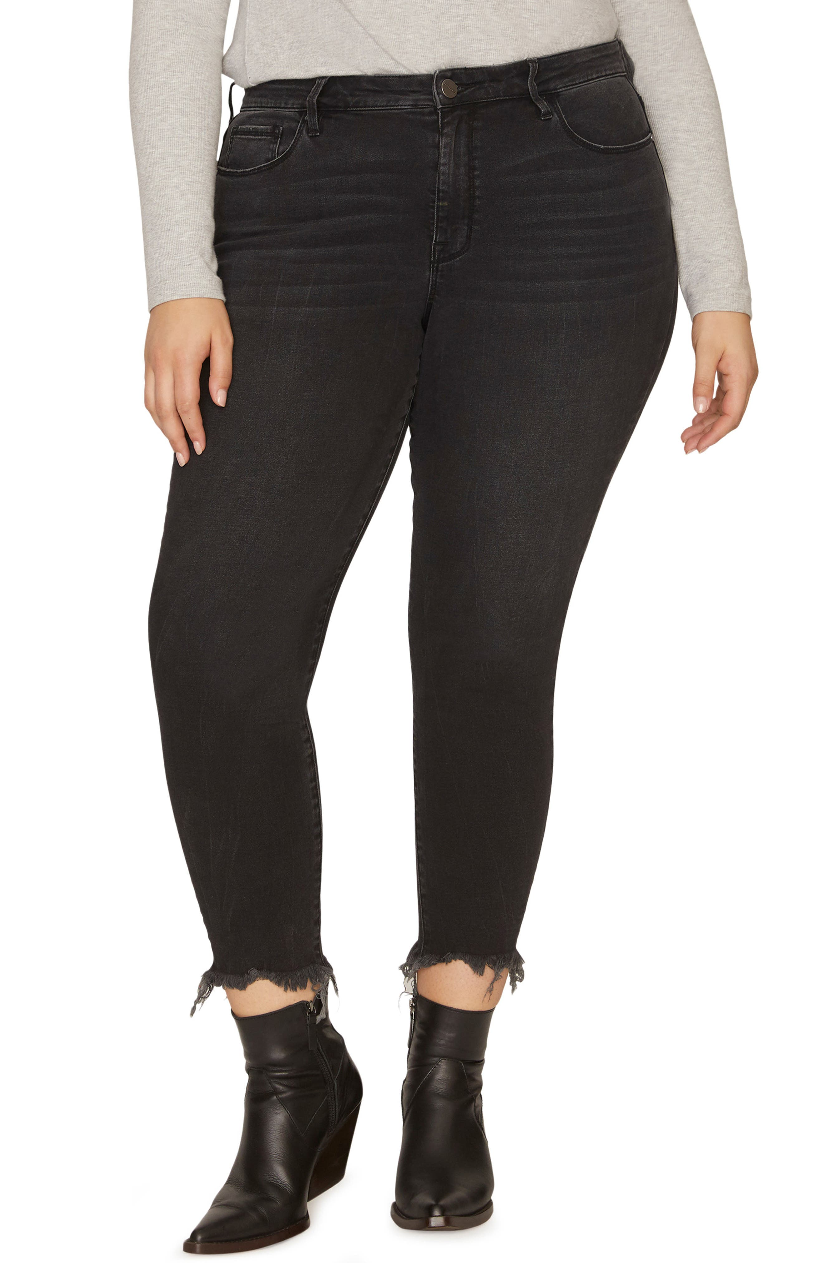 SANCTUARY Social Standard High Rise Ankle Skinny Jeans, Main, color, 001