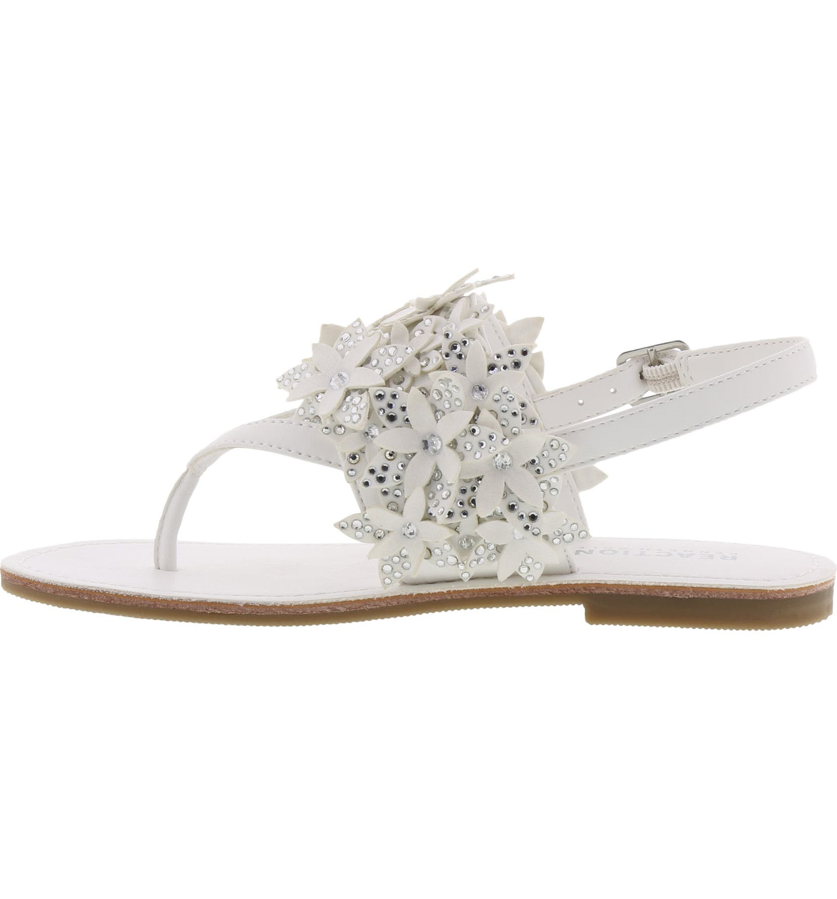 bce8abcb6865 Reaction Kenneth Cole Brie Sweep Crystal Flower Sandal (Toddler ...