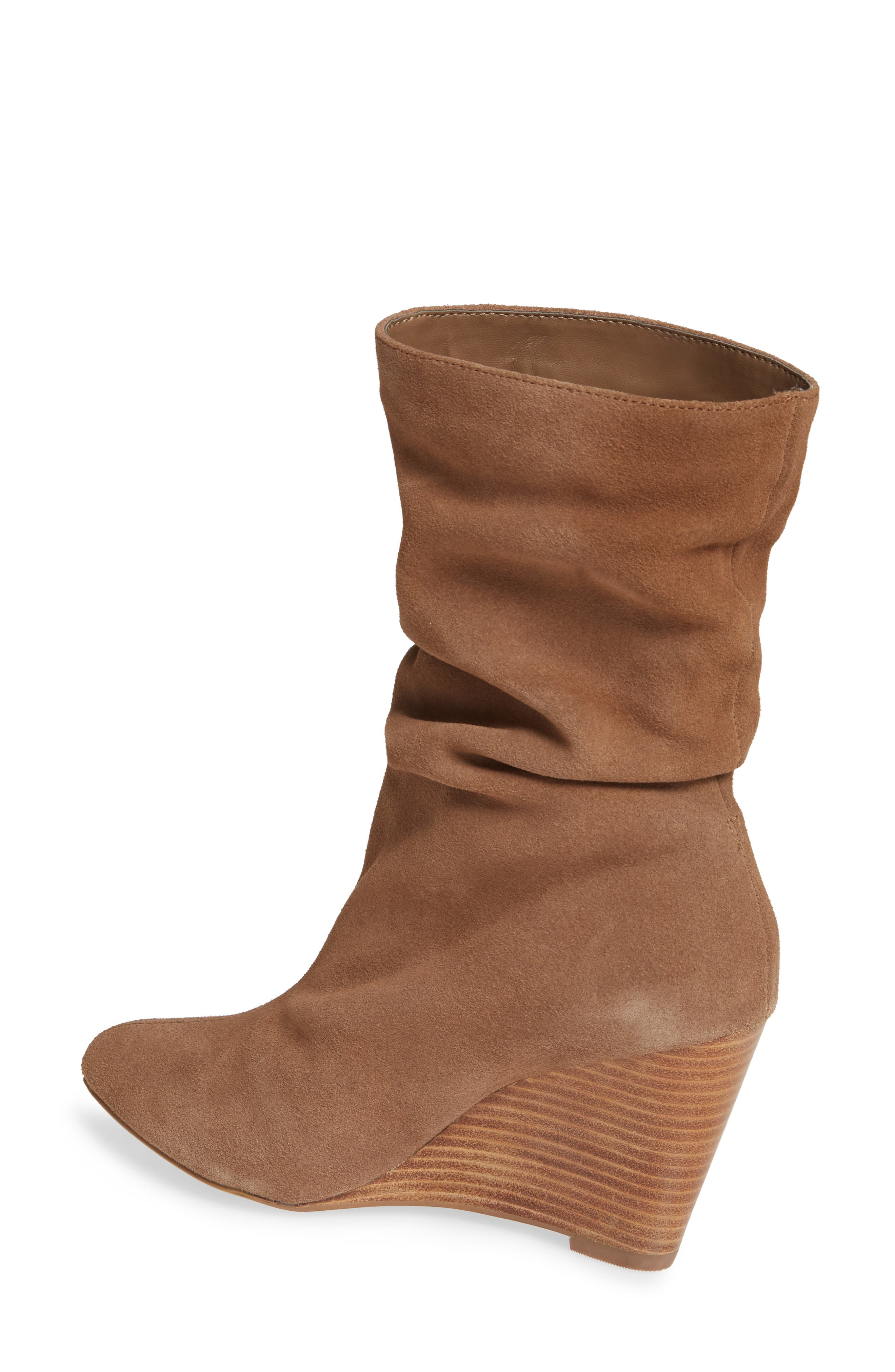 CHARLES BY CHARLES DAVID, Edell Slouchy Wedge Boot, Alternate thumbnail 2, color, TAUPE SUEDE