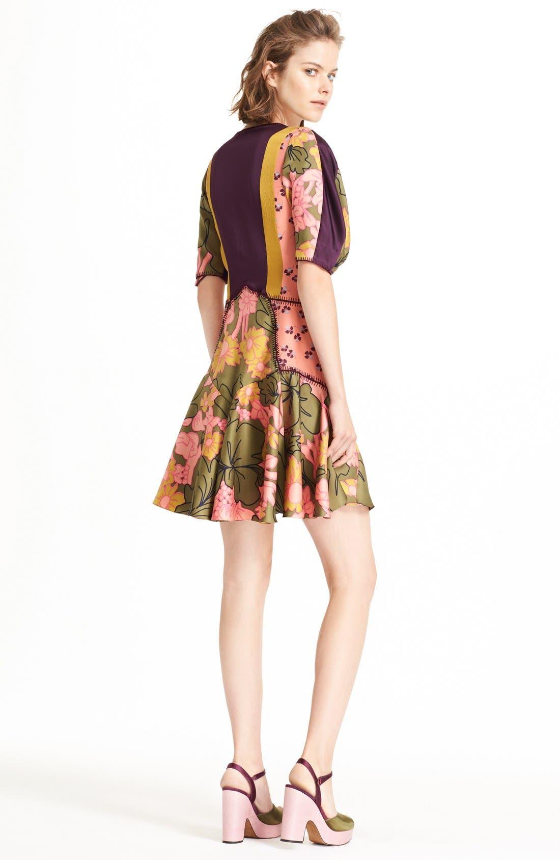 ROKSANDA, Hirani Dress, Alternate thumbnail 8, color, 695