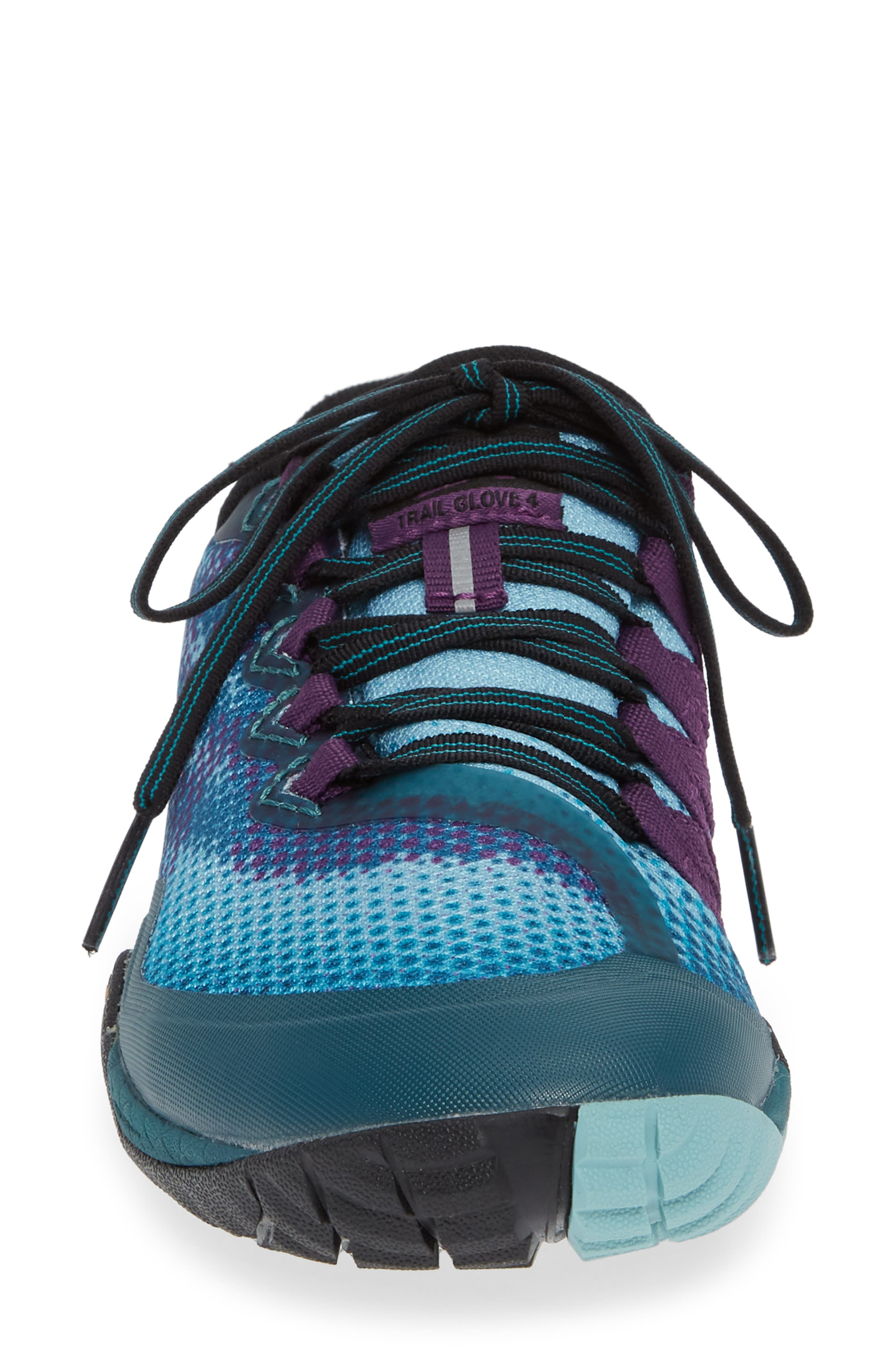 MERRELL, Trail Glove 4 Shield Water Resistant Running Shoe, Alternate thumbnail 4, color, 400