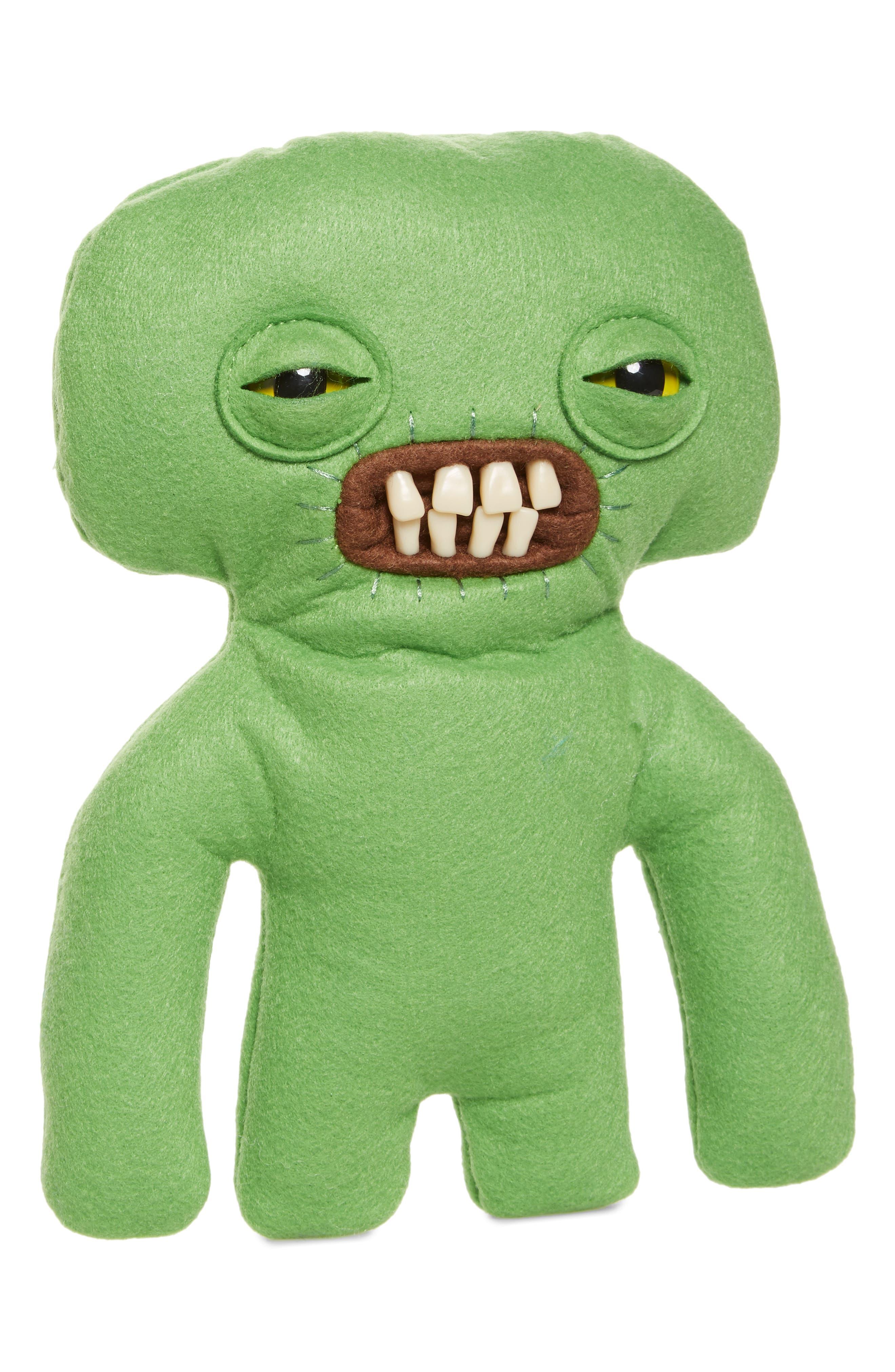 SPIN MASTER Medium Fugglers Plush Toy, Main, color, GREEN