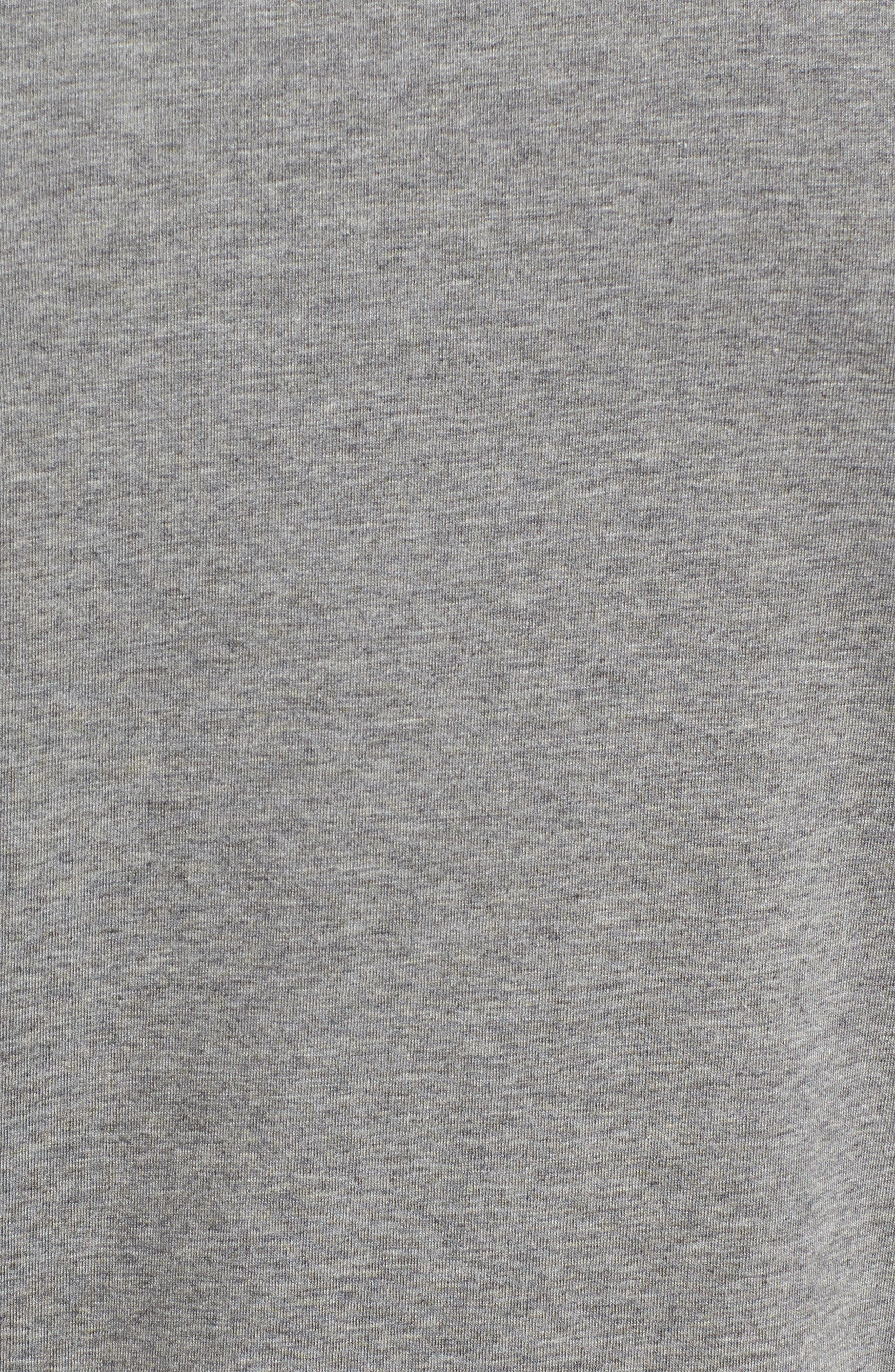 TASC PERFORMANCE, Charge II T-Shirt, Alternate thumbnail 5, color, HEATHER GREY