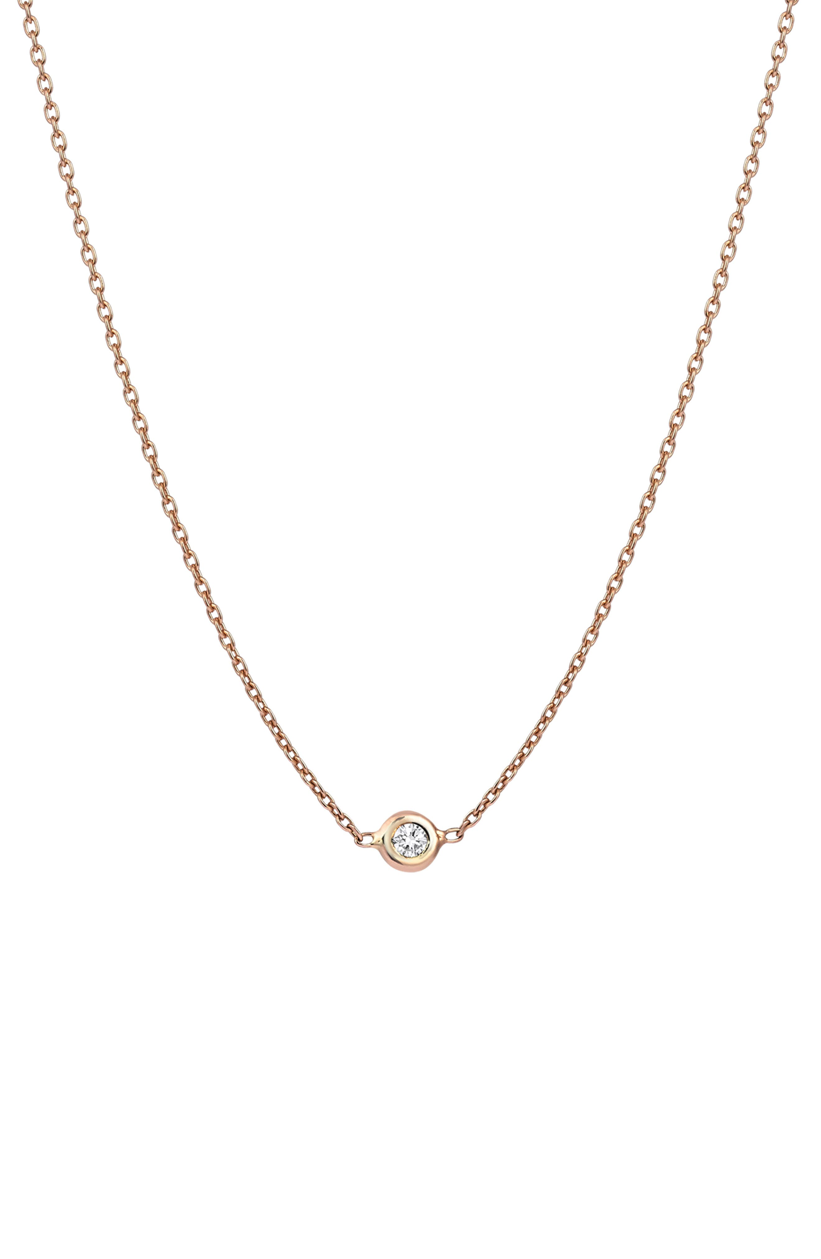 KISMET BY MILKA, Diamond Choker Necklace, Alternate thumbnail 2, color, ROSE GOLD
