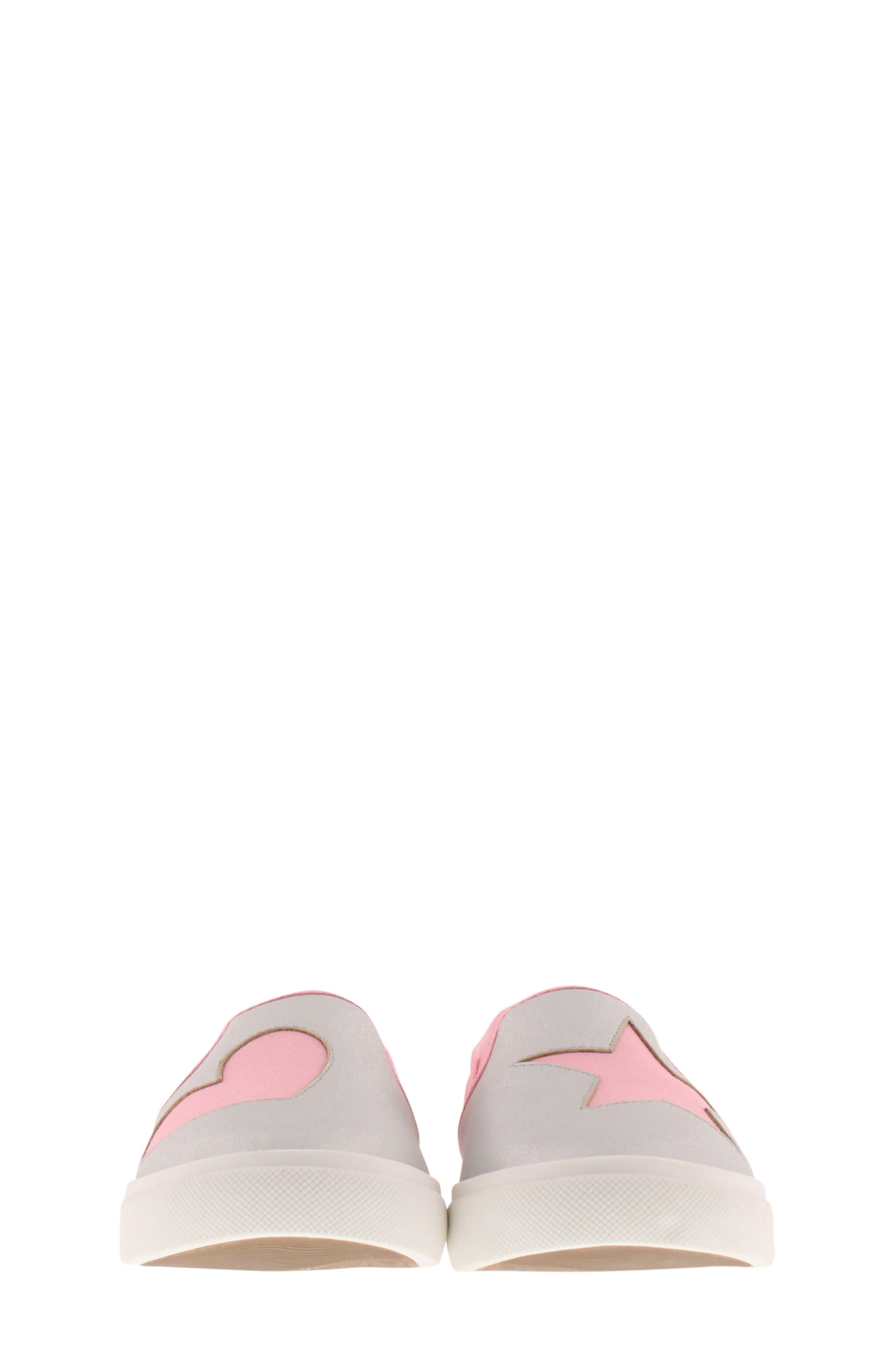 CHOOZE, Little Choice Starheart Slip-On Sneaker, Alternate thumbnail 4, color, SILVER