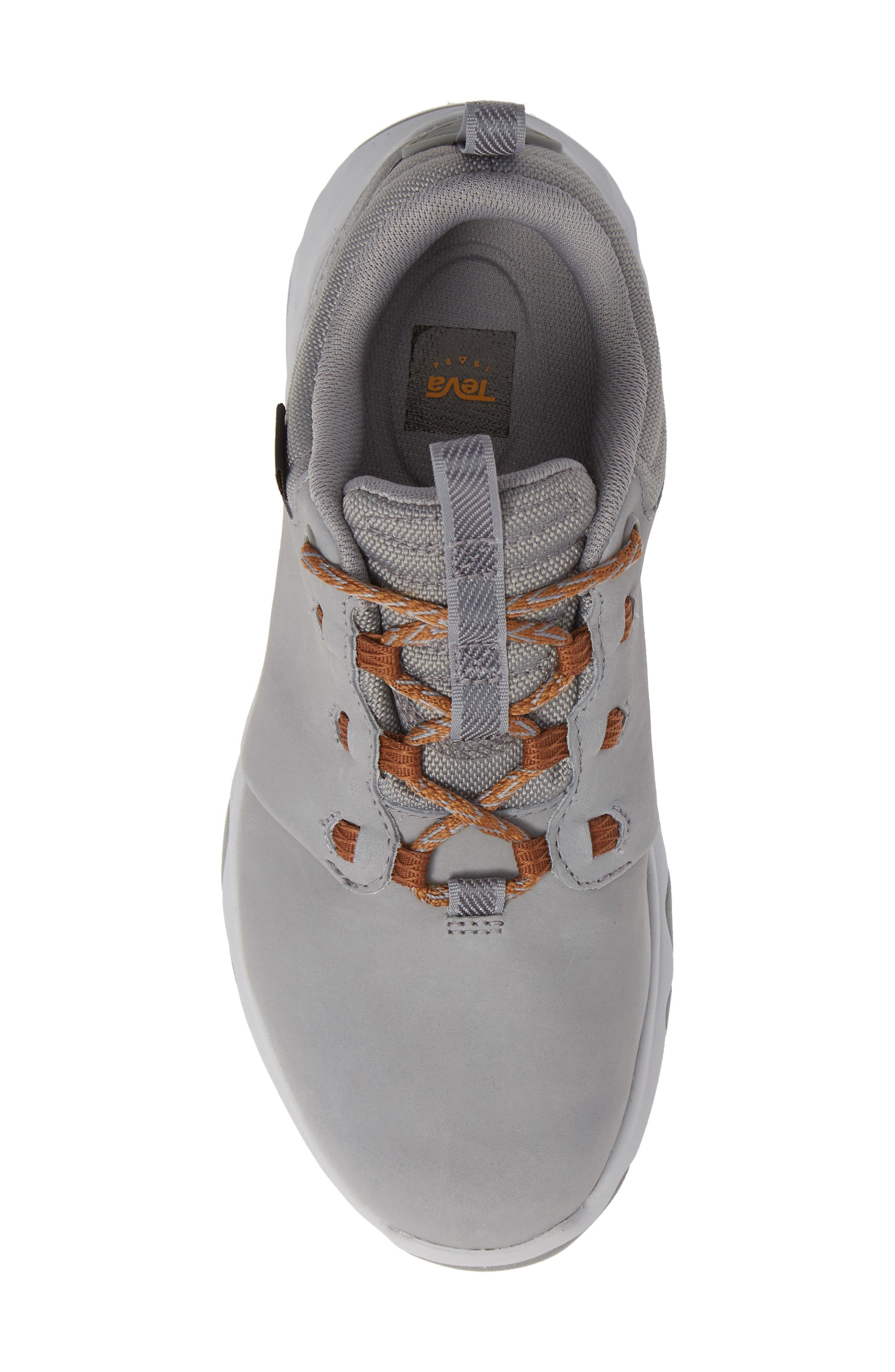 TEVA, 'Arrowood' Waterproof Sneaker, Alternate thumbnail 5, color, WILD DOVE LEATHER
