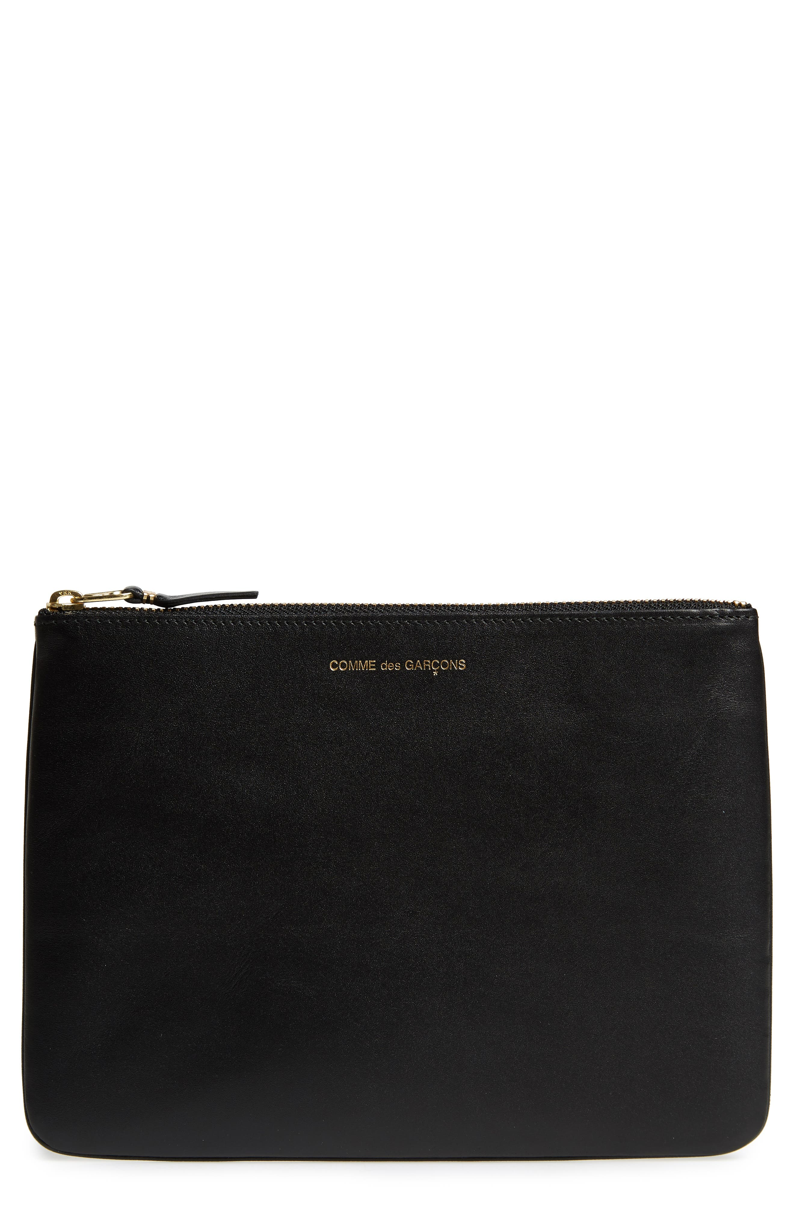 COMME DES GARÇONS Classic Leather Line Pouch, Main, color, 001