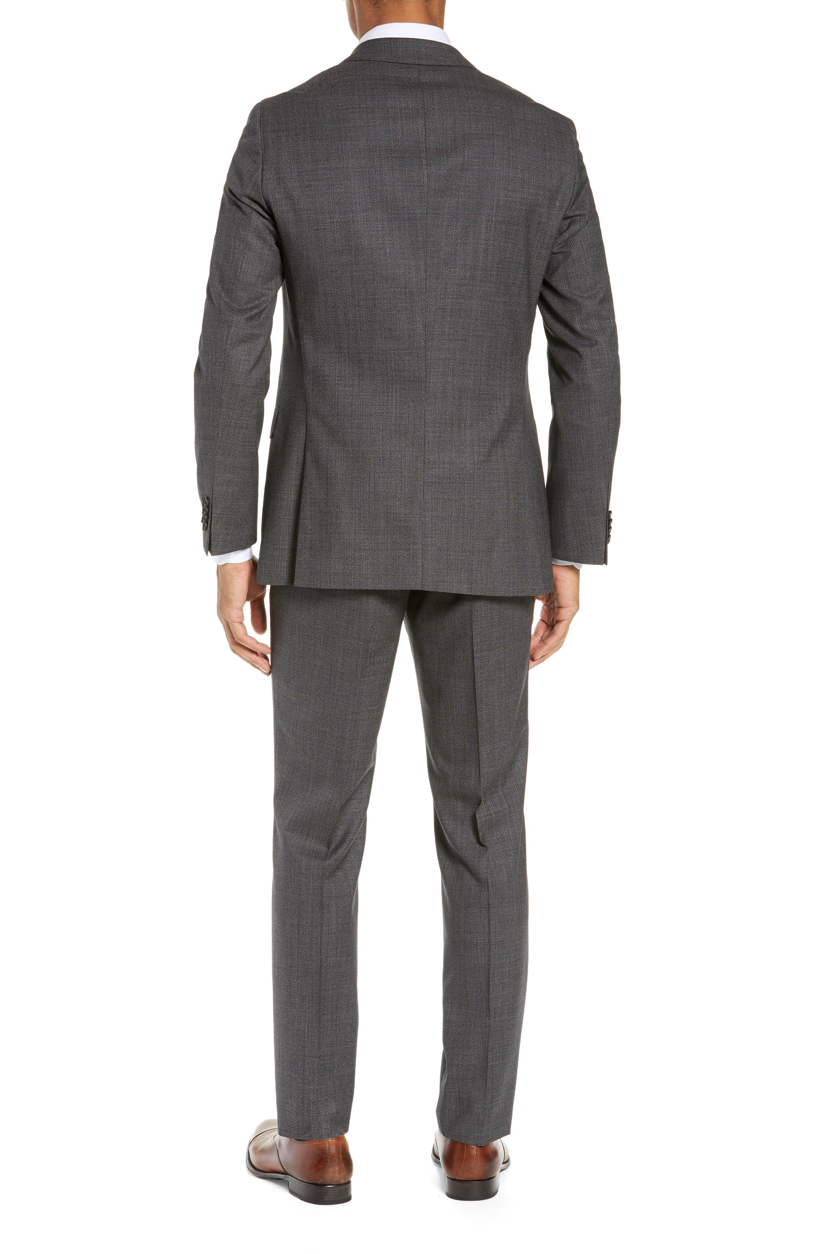 BOSS, Novan/Ben Slim Fit Solid Wool Suit, Alternate thumbnail 2, color, 063