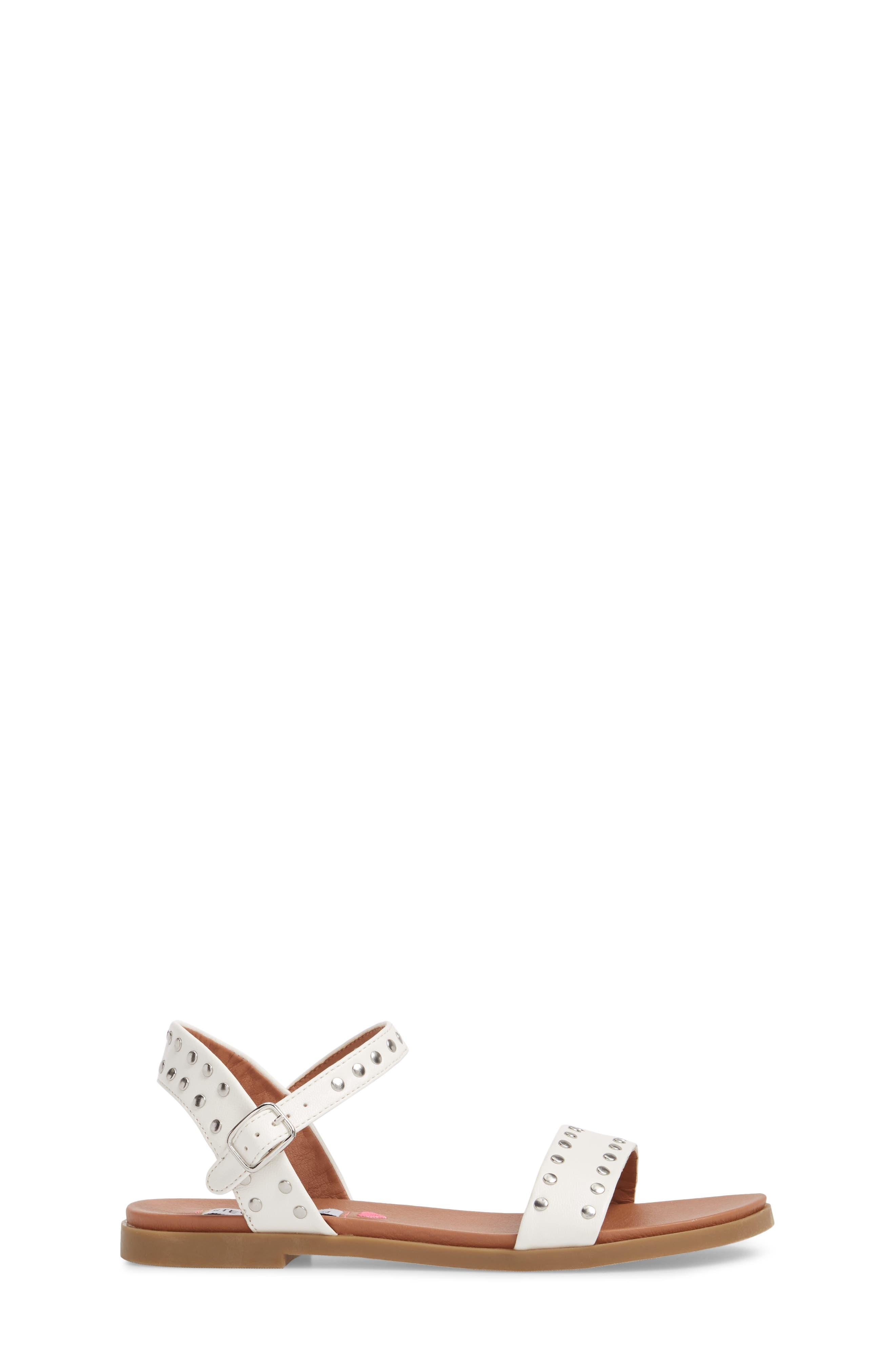 STEVE MADDEN, JDONDI Studded Sandal, Alternate thumbnail 3, color, 100