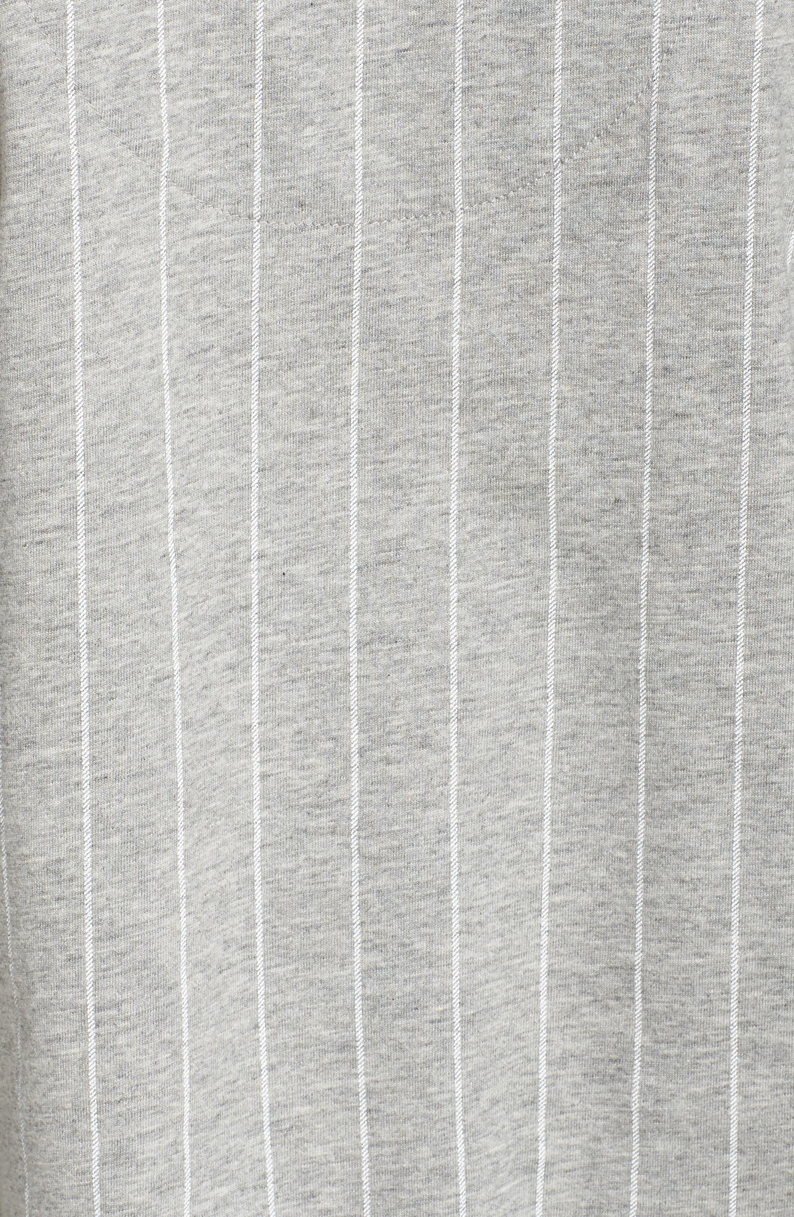 LAUREN RALPH LAUREN, Knit Crop Pajamas, Alternate thumbnail 5, color, GREYSTONE