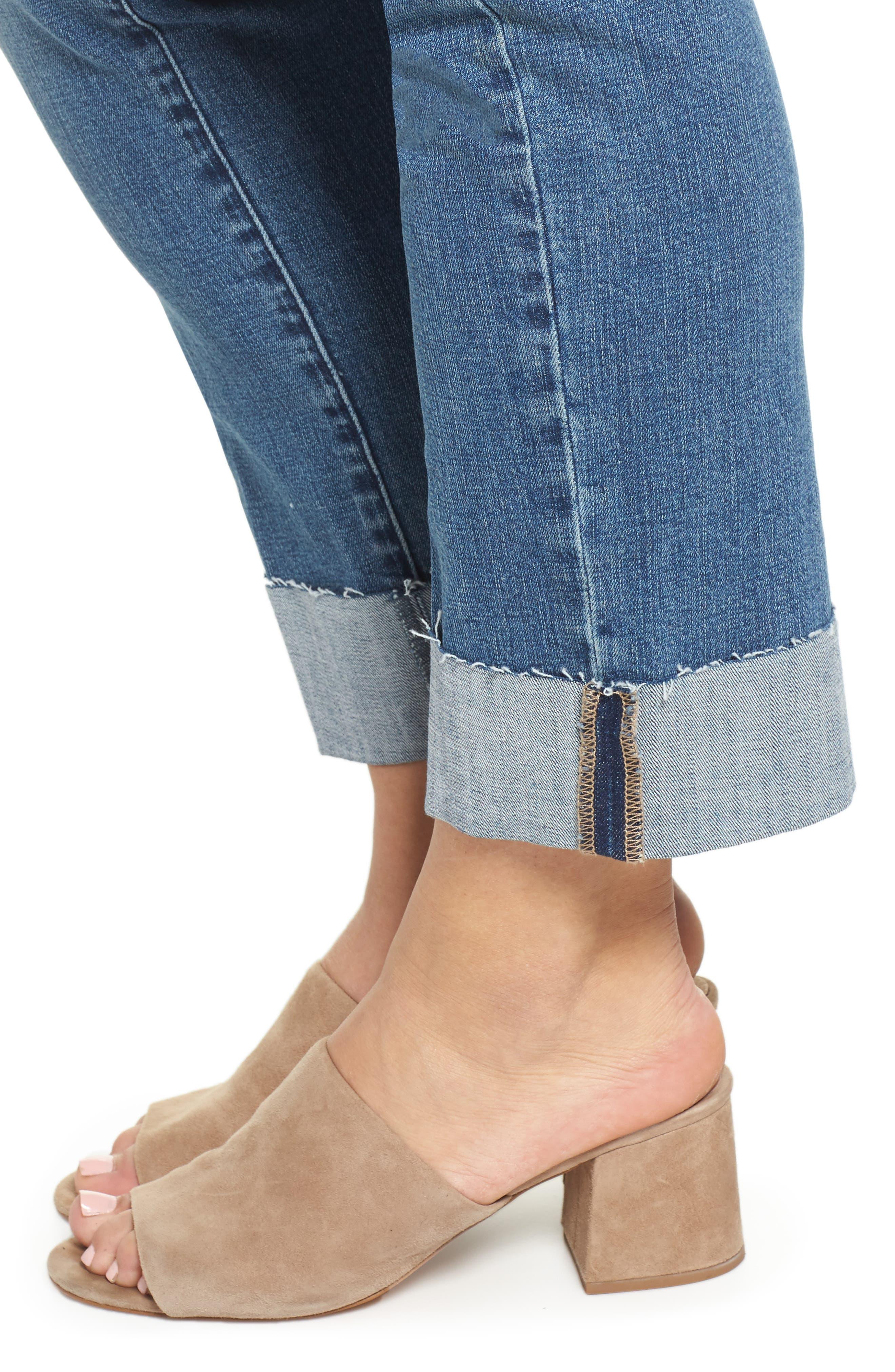 WIT & WISDOM, Flex-ellent Boyfriend Jeans, Alternate thumbnail 5, color, BLUE