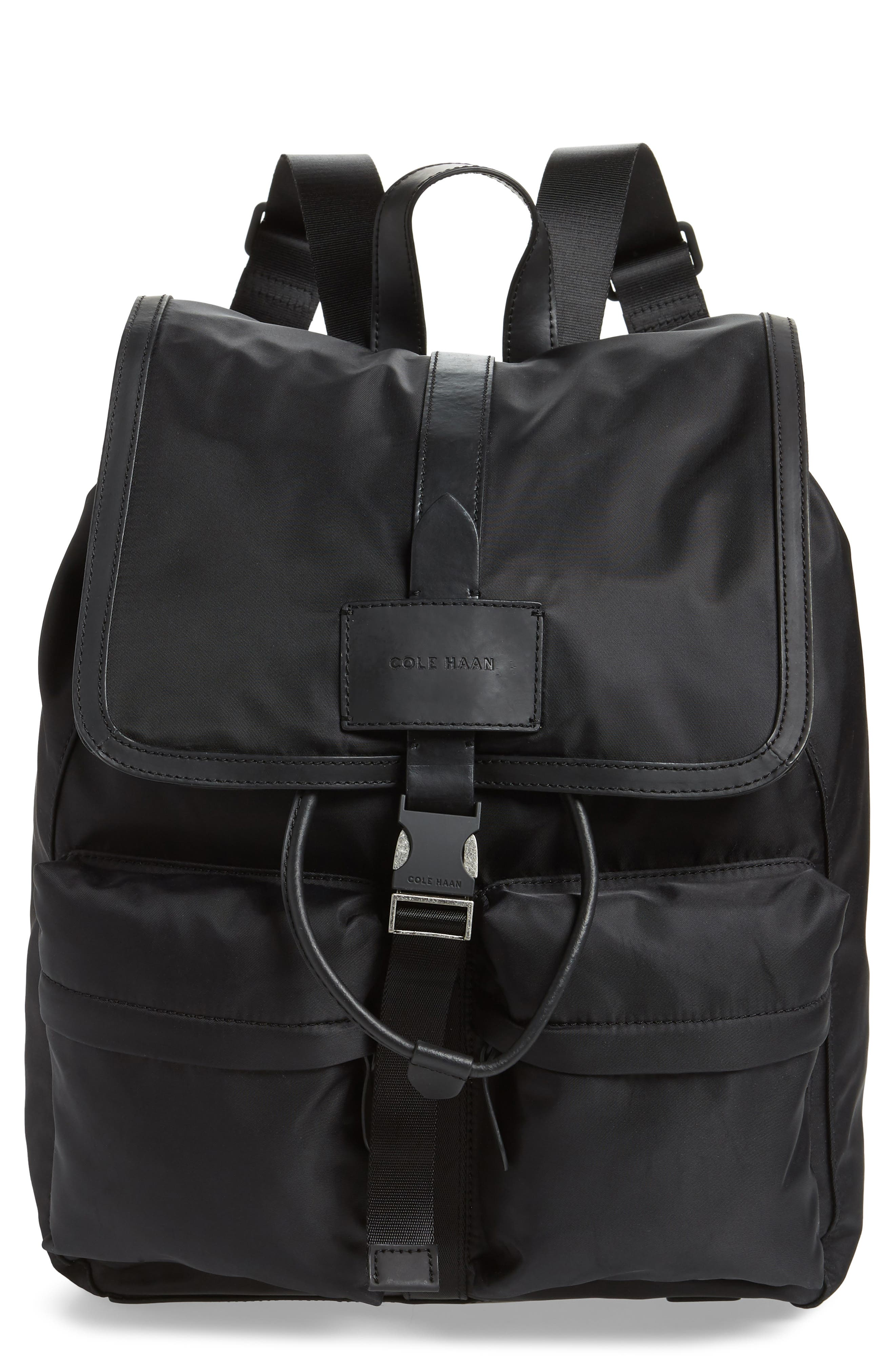 COLE HAAN, ZeroGrand Backpack, Main thumbnail 1, color, BLACK