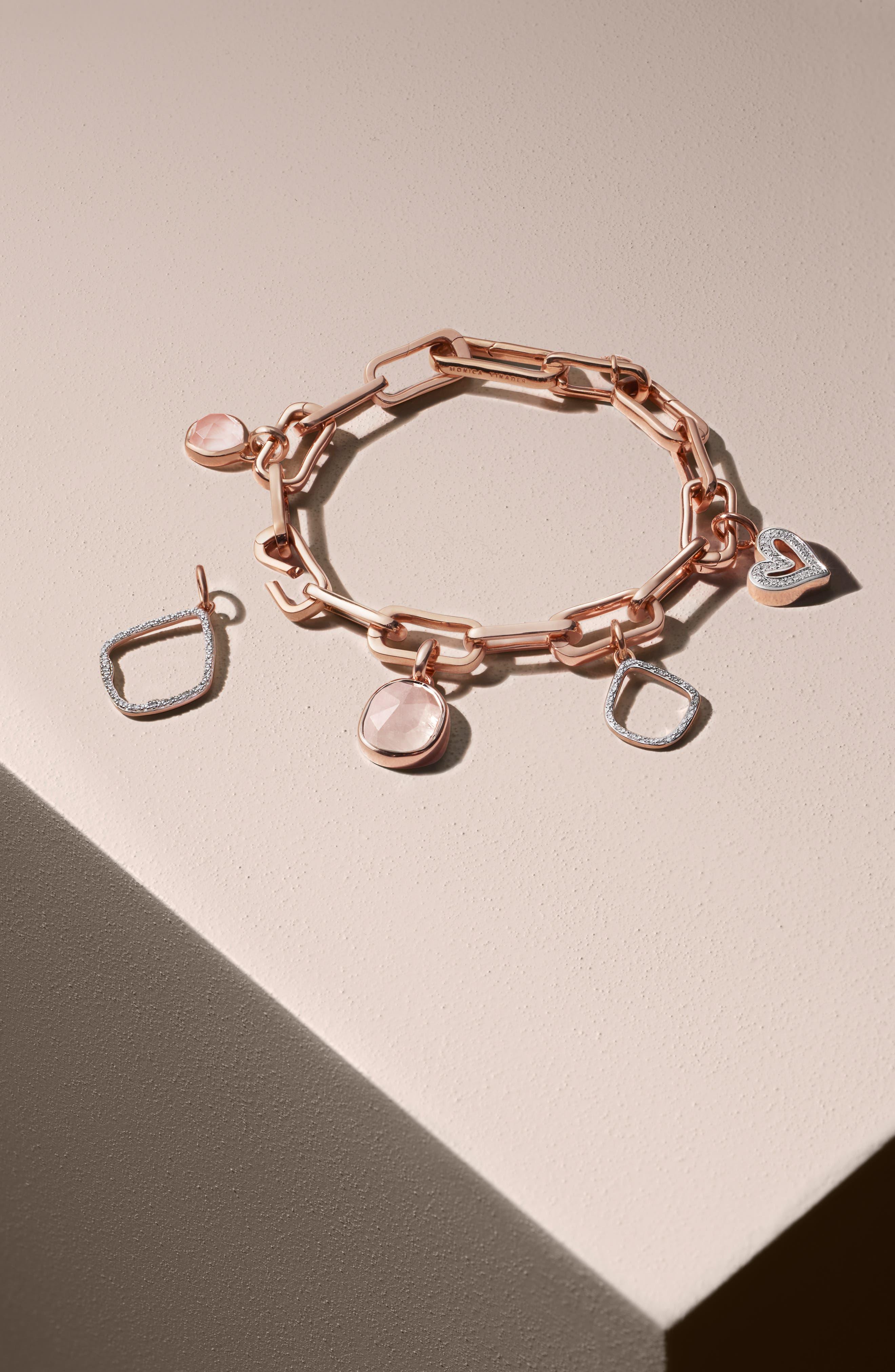MONICA VINADER, Alta Capture Link Chain Bracelet, Alternate thumbnail 8, color, ROSE GOLD
