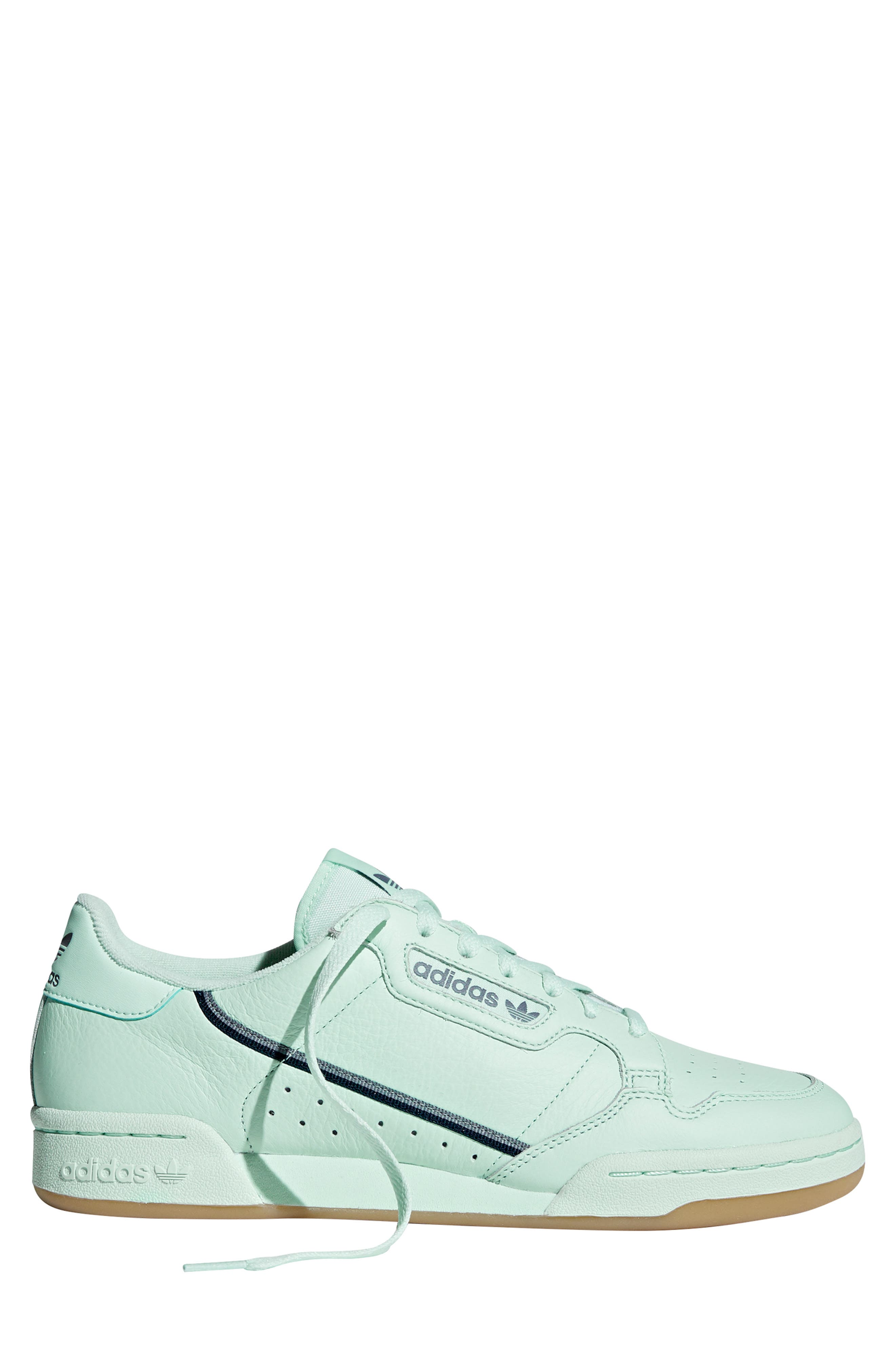 ADIDAS, Continental 80 Sneaker, Alternate thumbnail 7, color, ICE MINT/ NAVY/ GREY