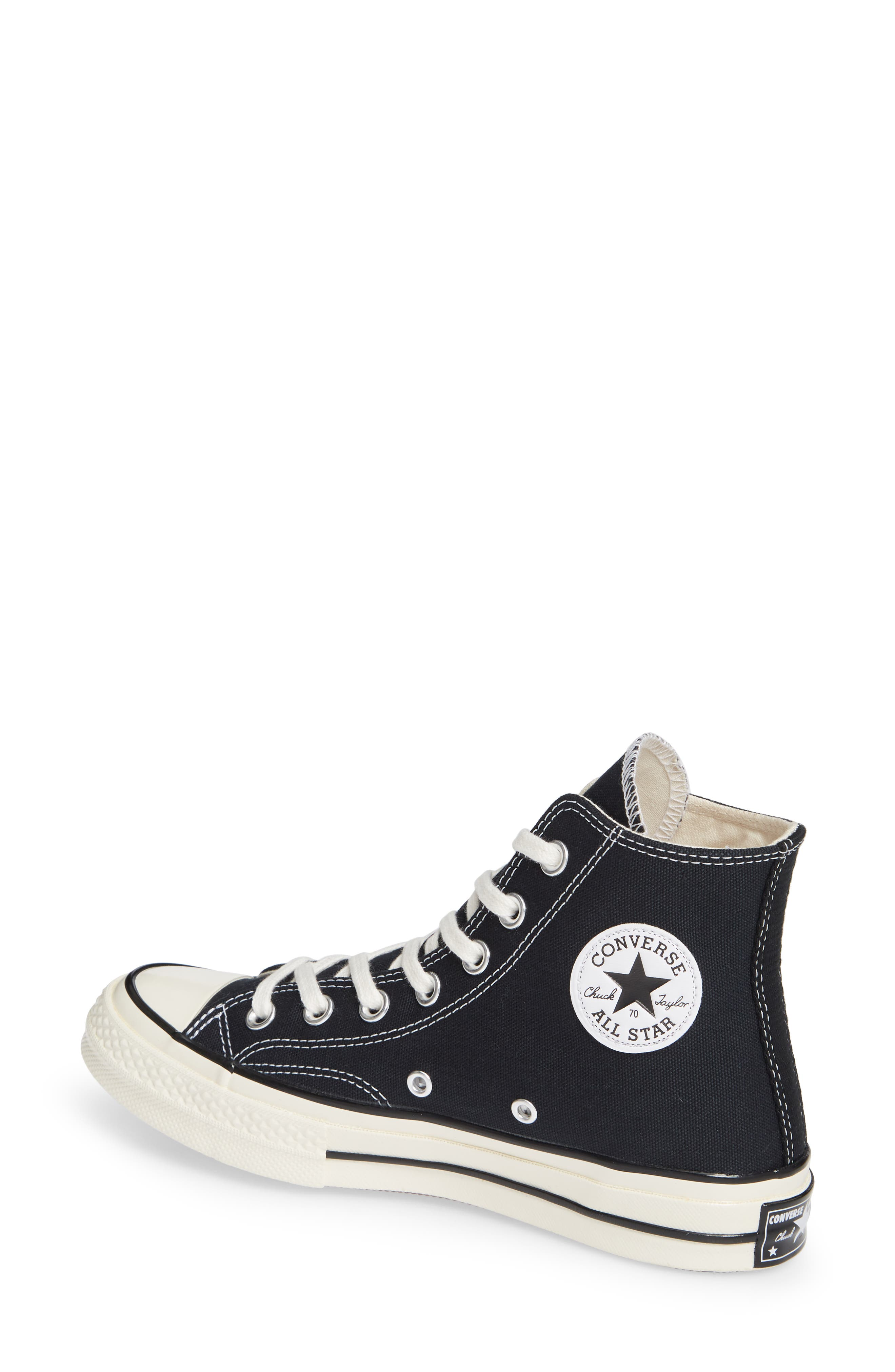 CONVERSE, Chuck Taylor<sup>®</sup> All Star<sup>®</sup> Chuck 70 High Top Sneaker, Alternate thumbnail 2, color, BLACK