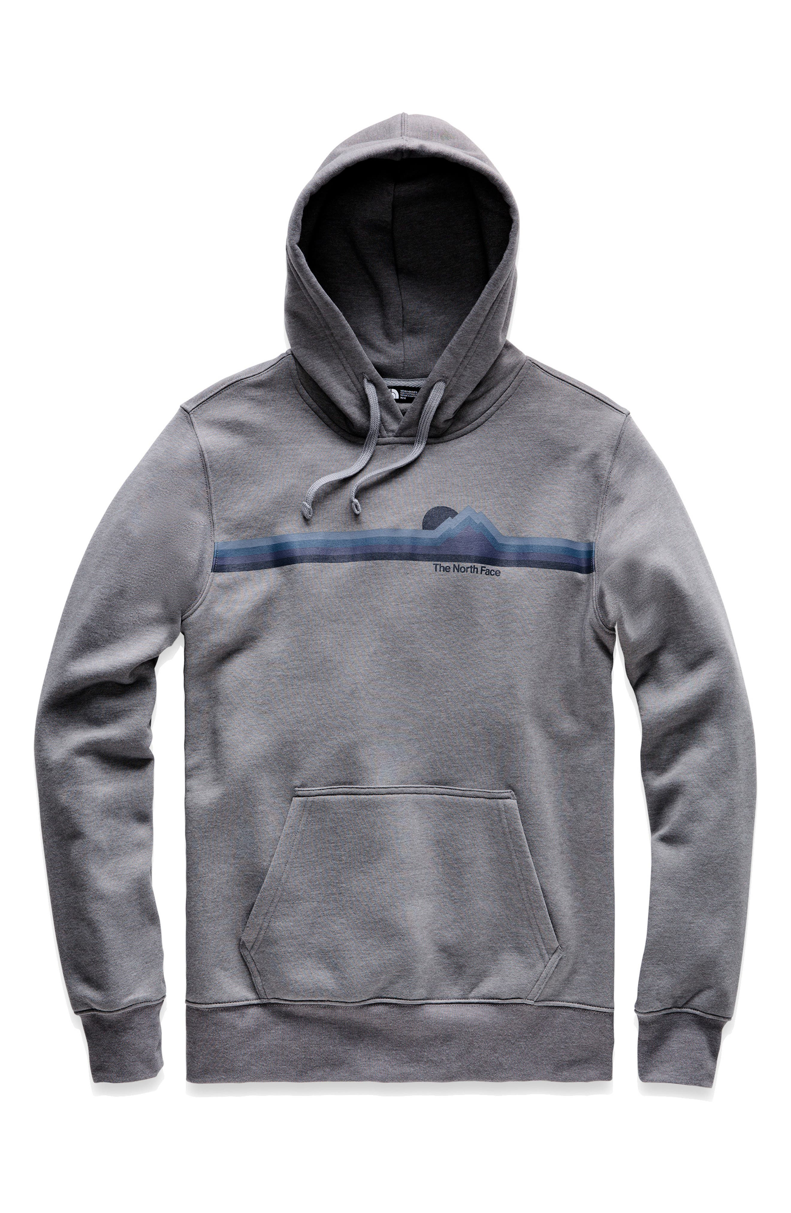 THE NORTH FACE, Gradient Sunset Pullover Hoodie, Alternate thumbnail 3, color, TNF MEDIUM GREY HEATHER