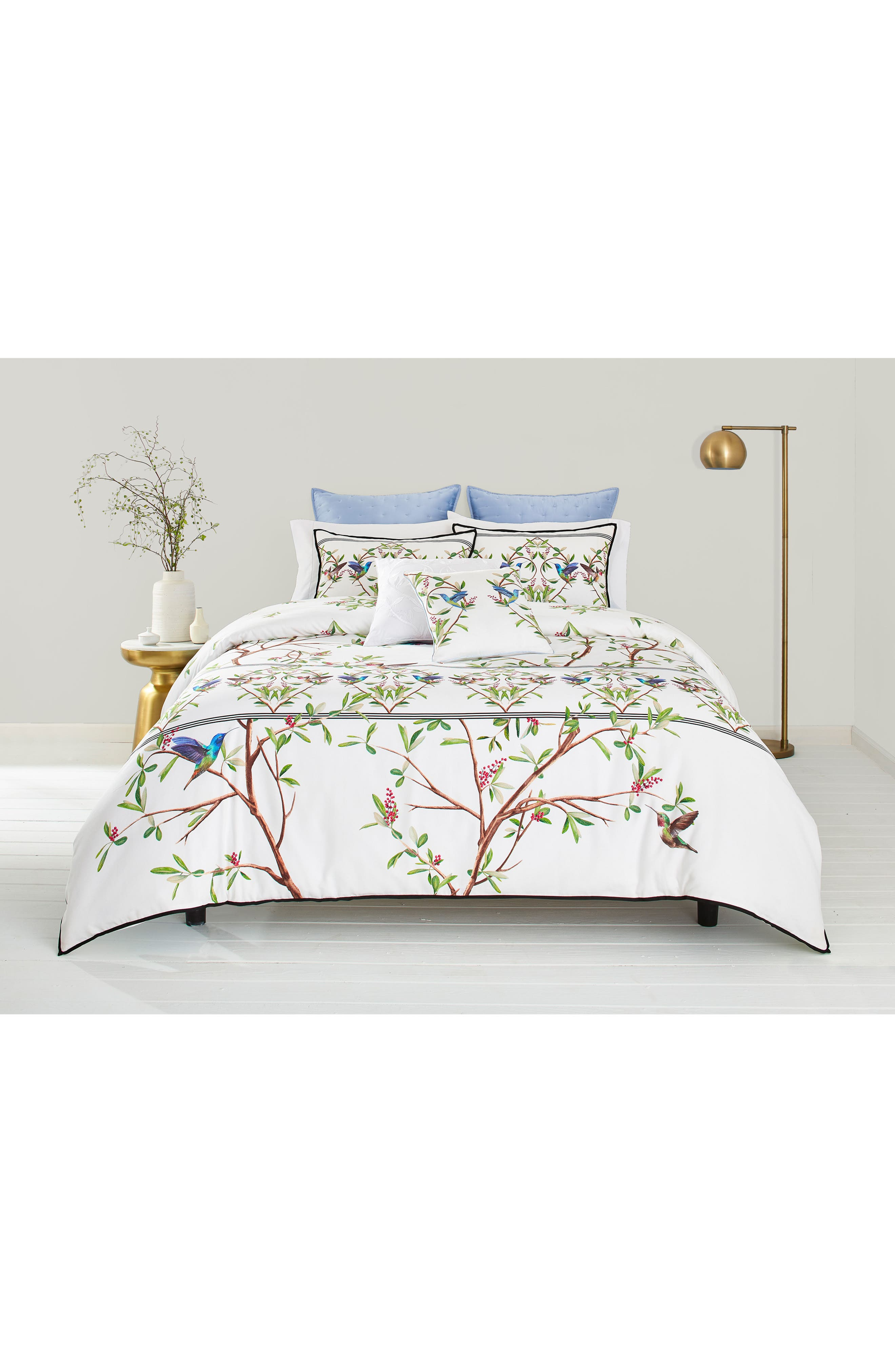 TED BAKER LONDON, Highgrove Comforter & Sham Set, Main thumbnail 1, color, WHITE/ MULTI