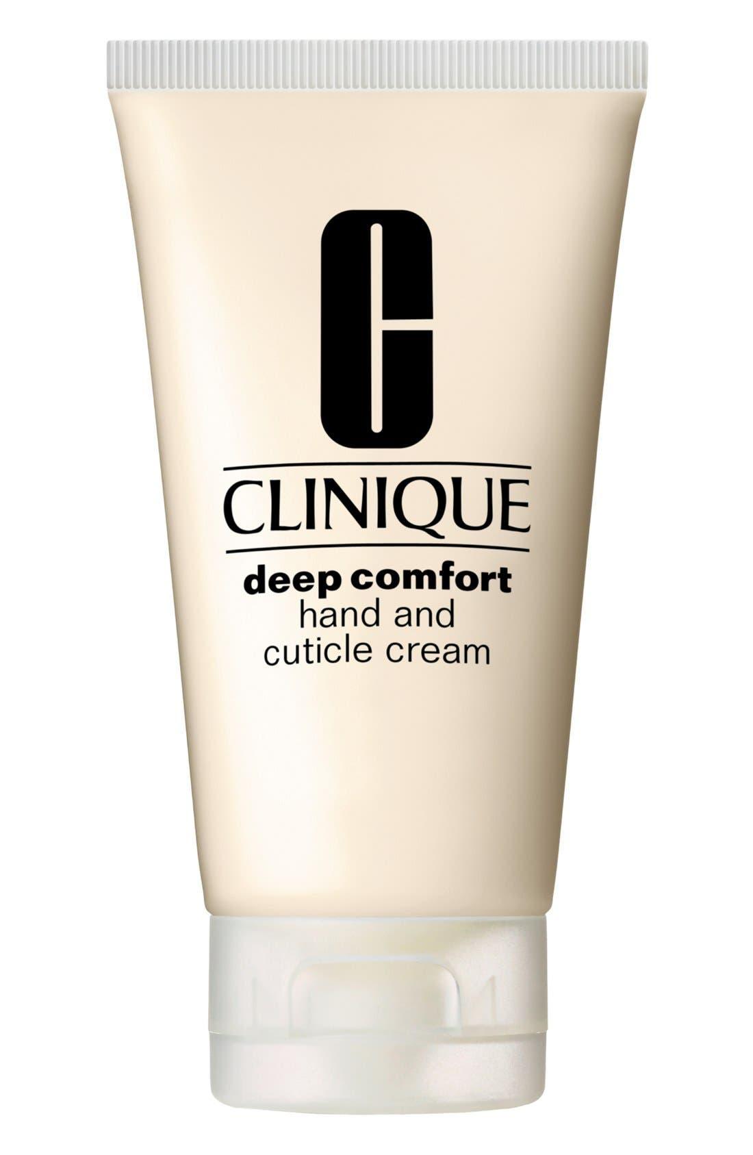 CLINIQUE, Deep Comfort Hand & Cuticle Cream, Main thumbnail 1, color, NO COLOR