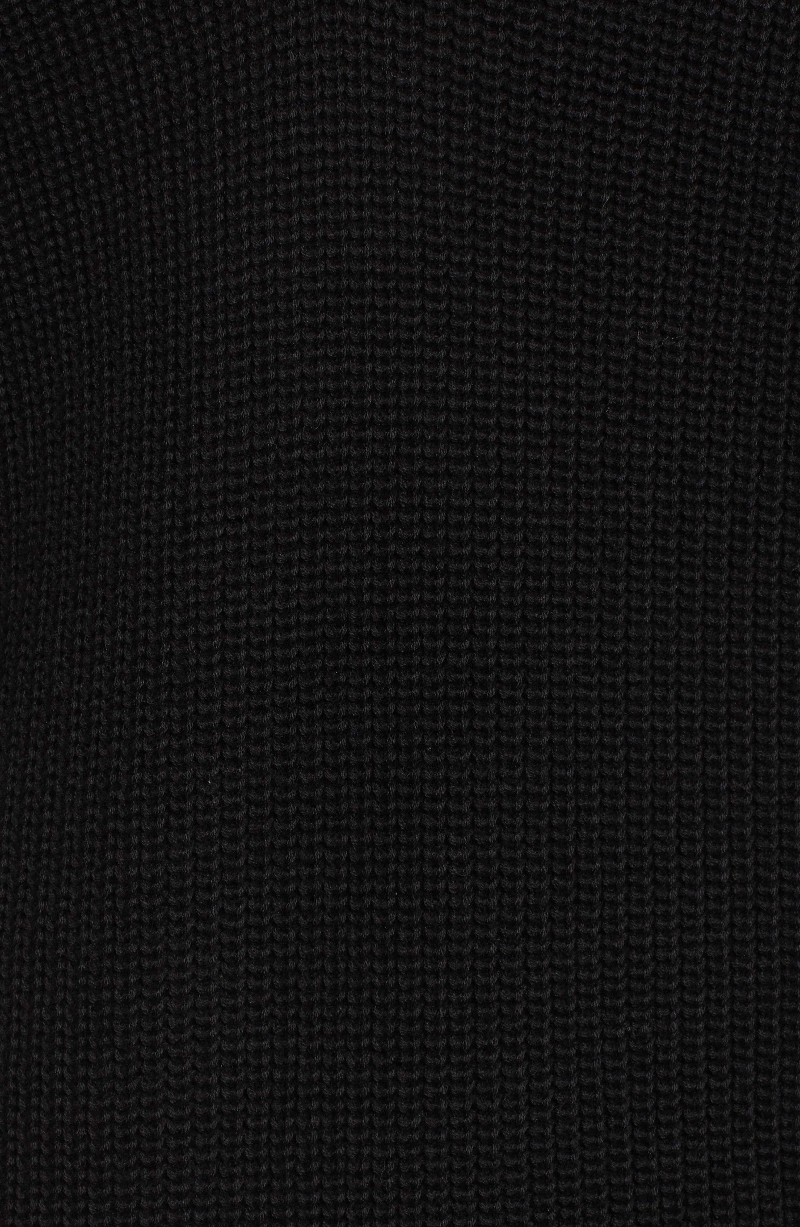 HALOGEN<SUP>®</SUP>, Cross Back Sweater, Alternate thumbnail 5, color, BLACK
