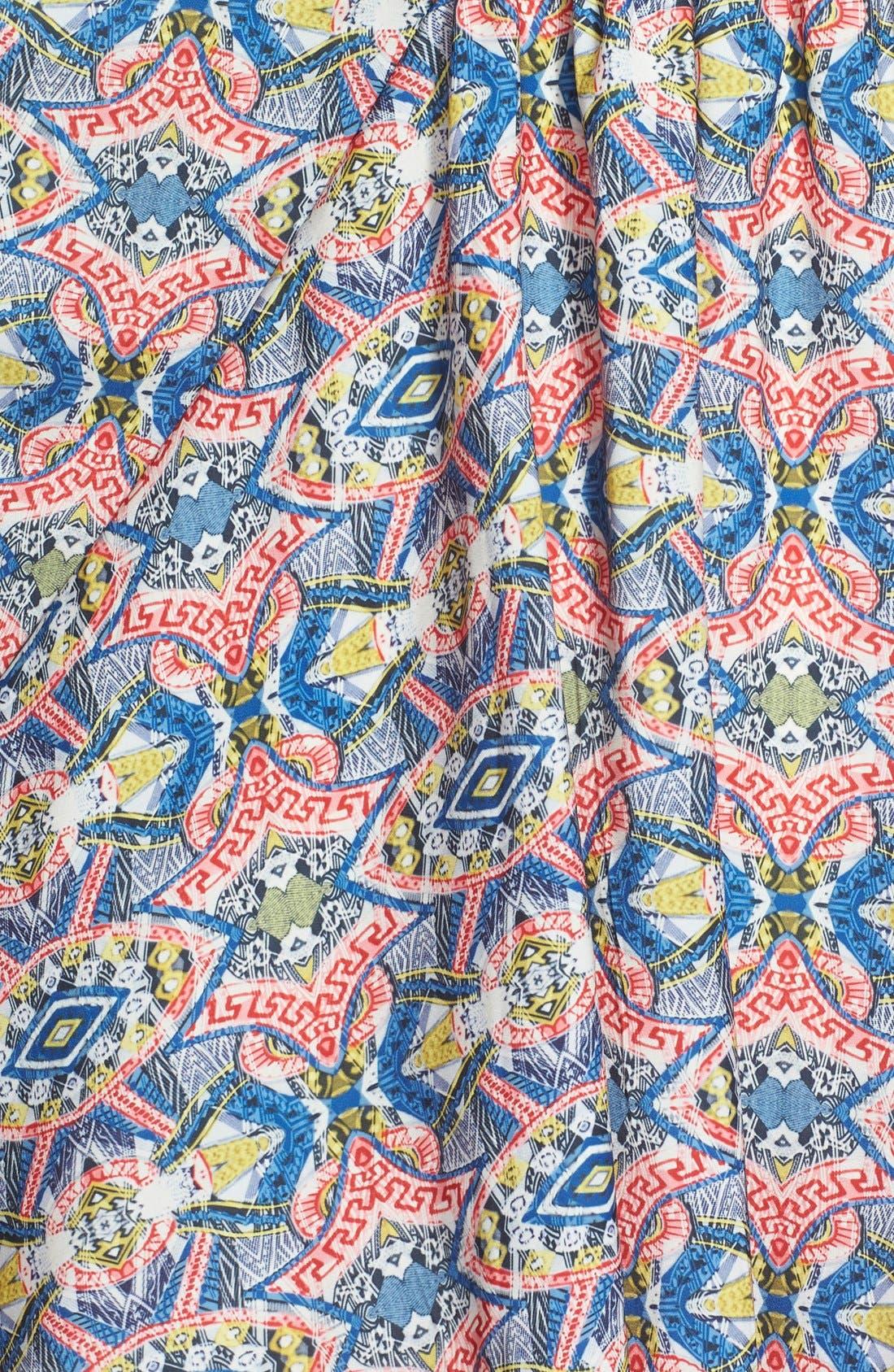 MAISIE, 'Lenore' Floral Print Kimono Dress, Alternate thumbnail 3, color, 001