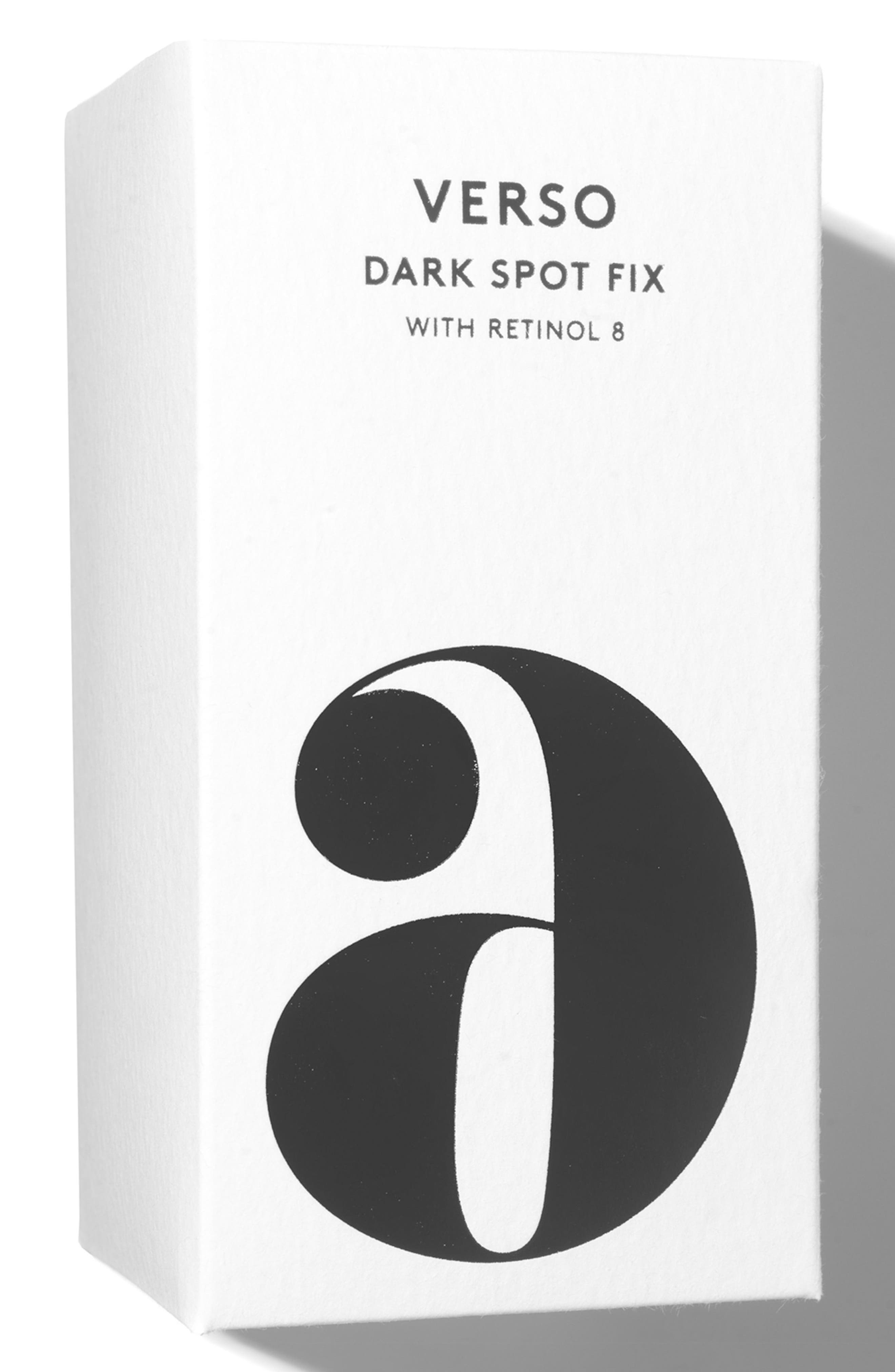 VERSO, SPACE.NK.apothecary Verso Skincare Dark Spot Fix, Alternate thumbnail 3, color, 000
