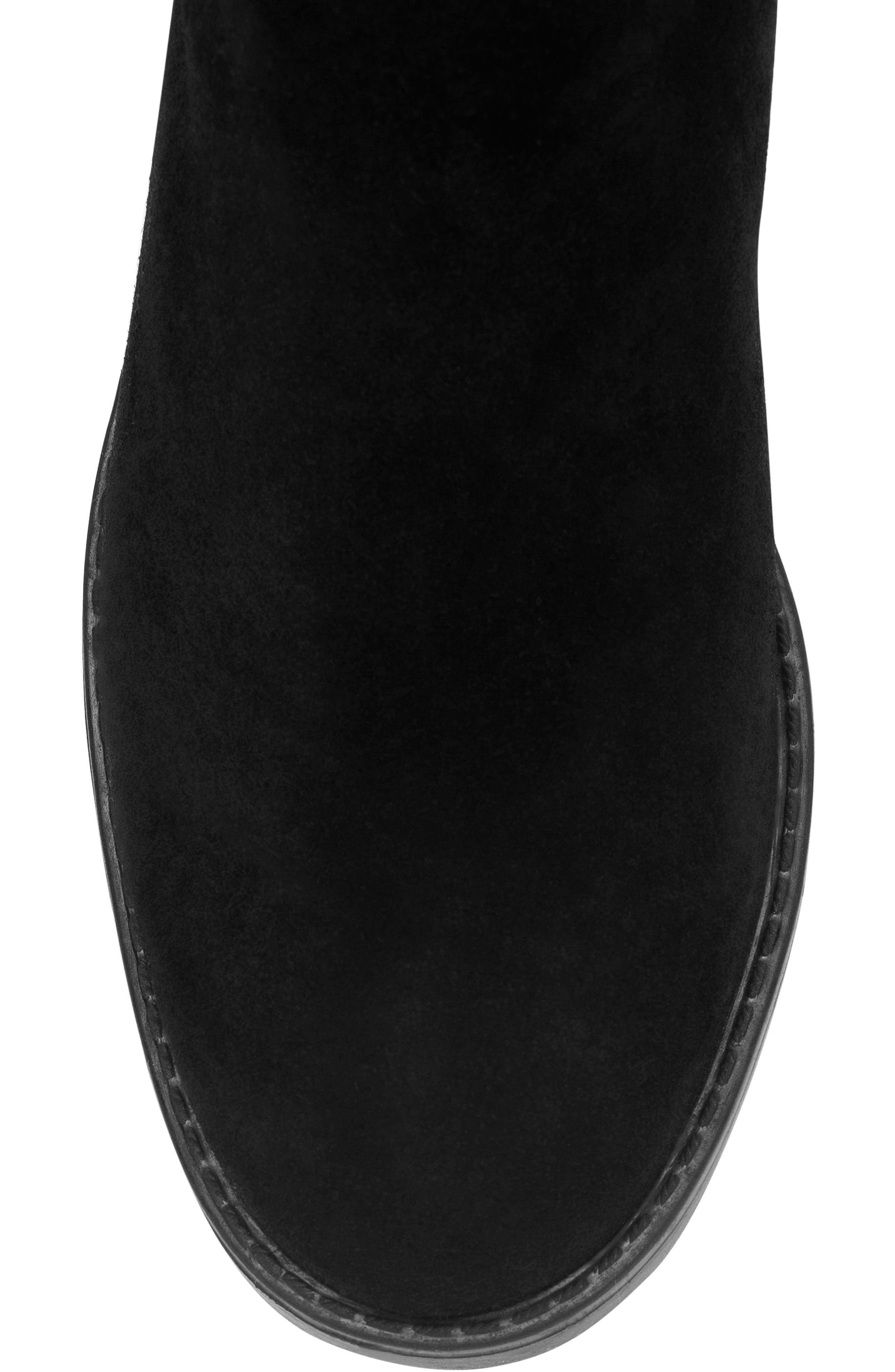 BLONDO, Ethos Over the Knee Waterproof Stretch Boot, Alternate thumbnail 5, color, BLACK SUEDE