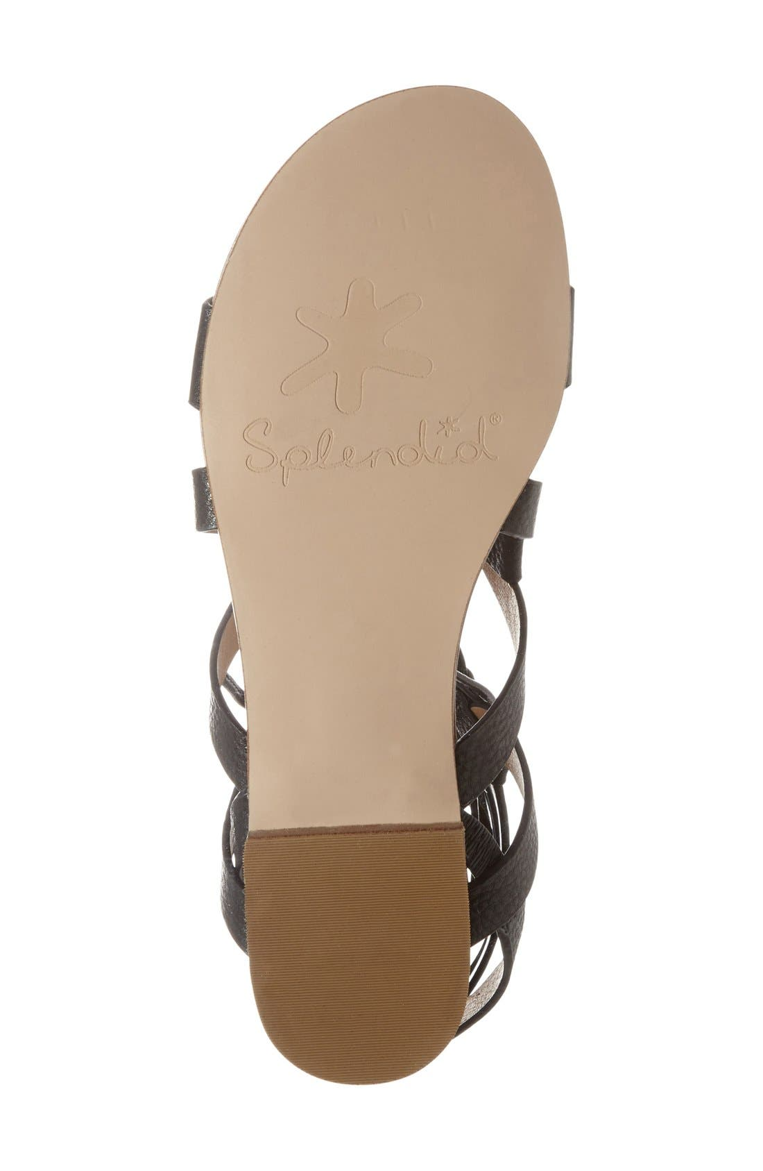 SPLENDID, 'Cameron' Lace-Up Sandal, Alternate thumbnail 2, color, 001