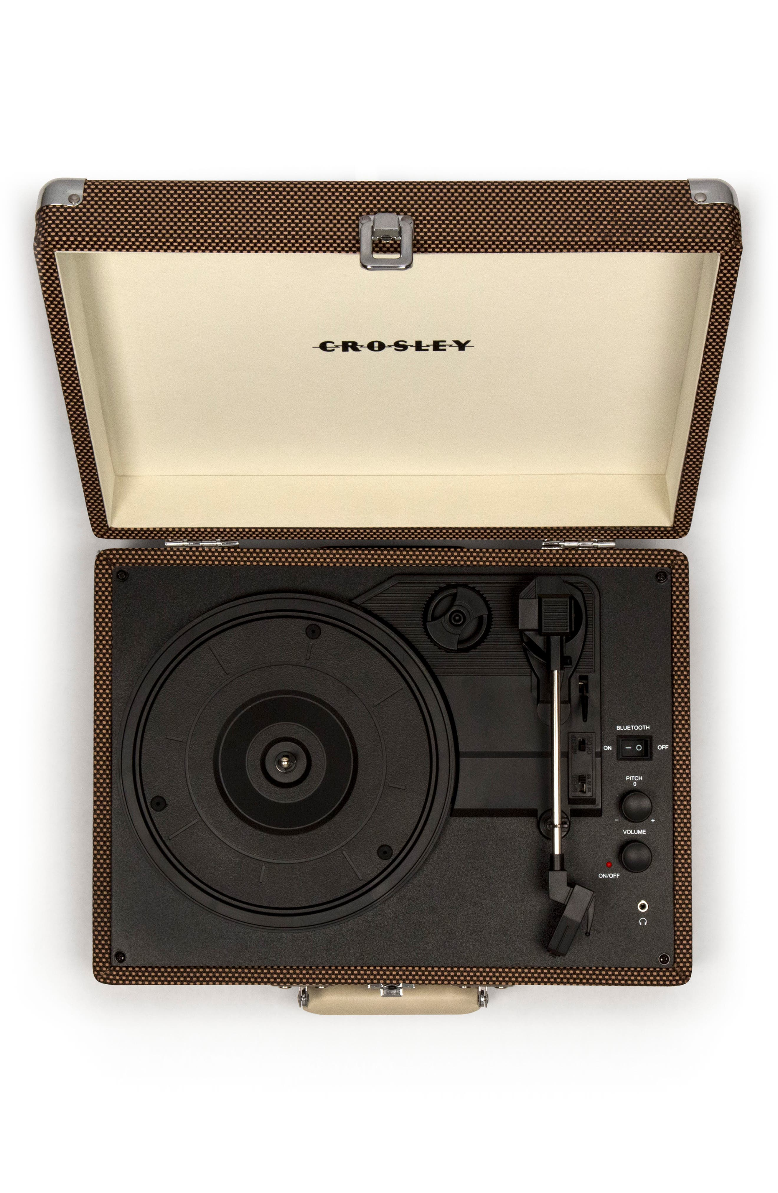 CROSLEY RADIO, Cruiser Deluxe Turntable, Alternate thumbnail 6, color, TWEED