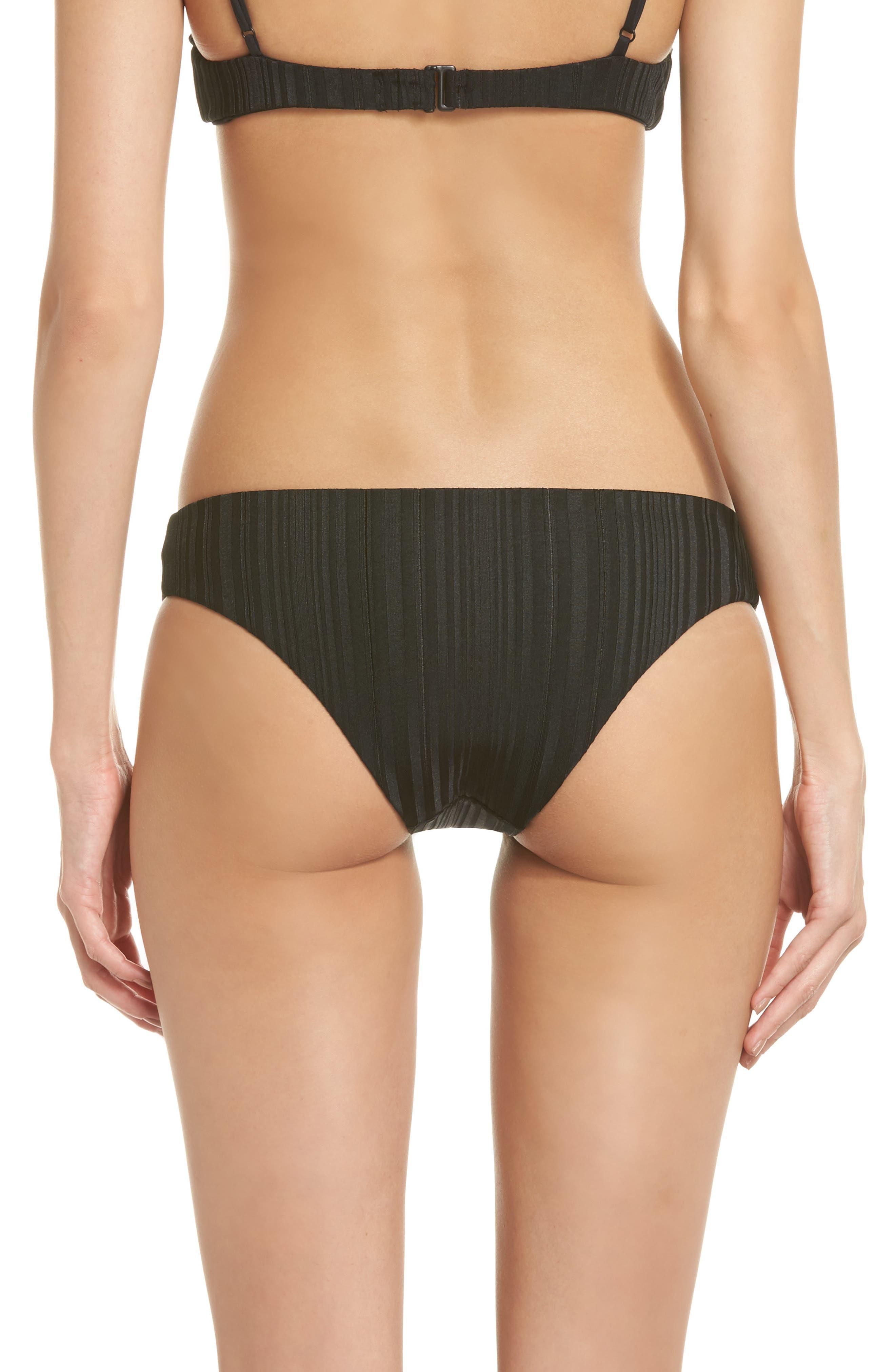 TAVIK, Ali Bikini Bottoms, Alternate thumbnail 2, color, BLACK