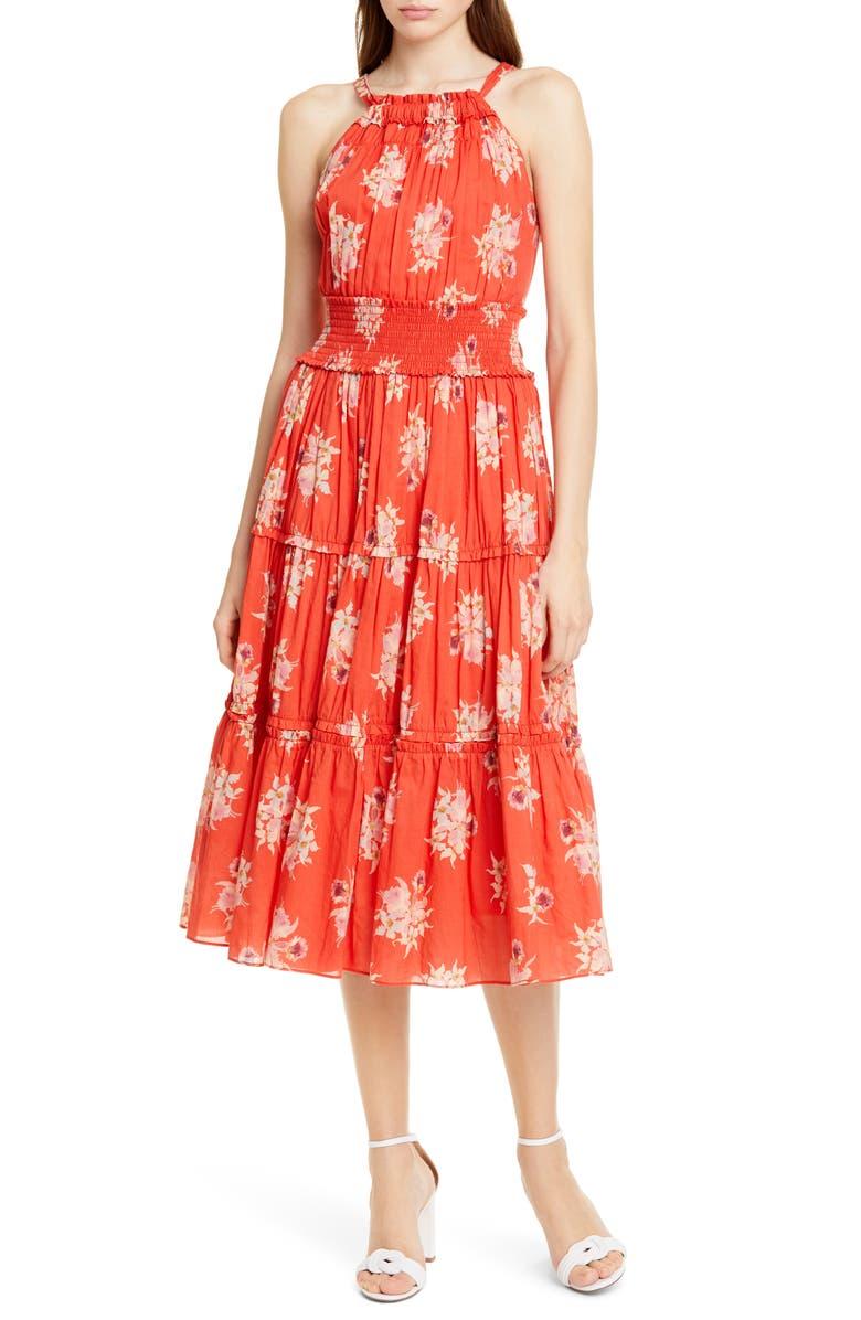 La Vie Rebecca Taylor Dresses CATRINE HALTER TOP COTTON DRESS