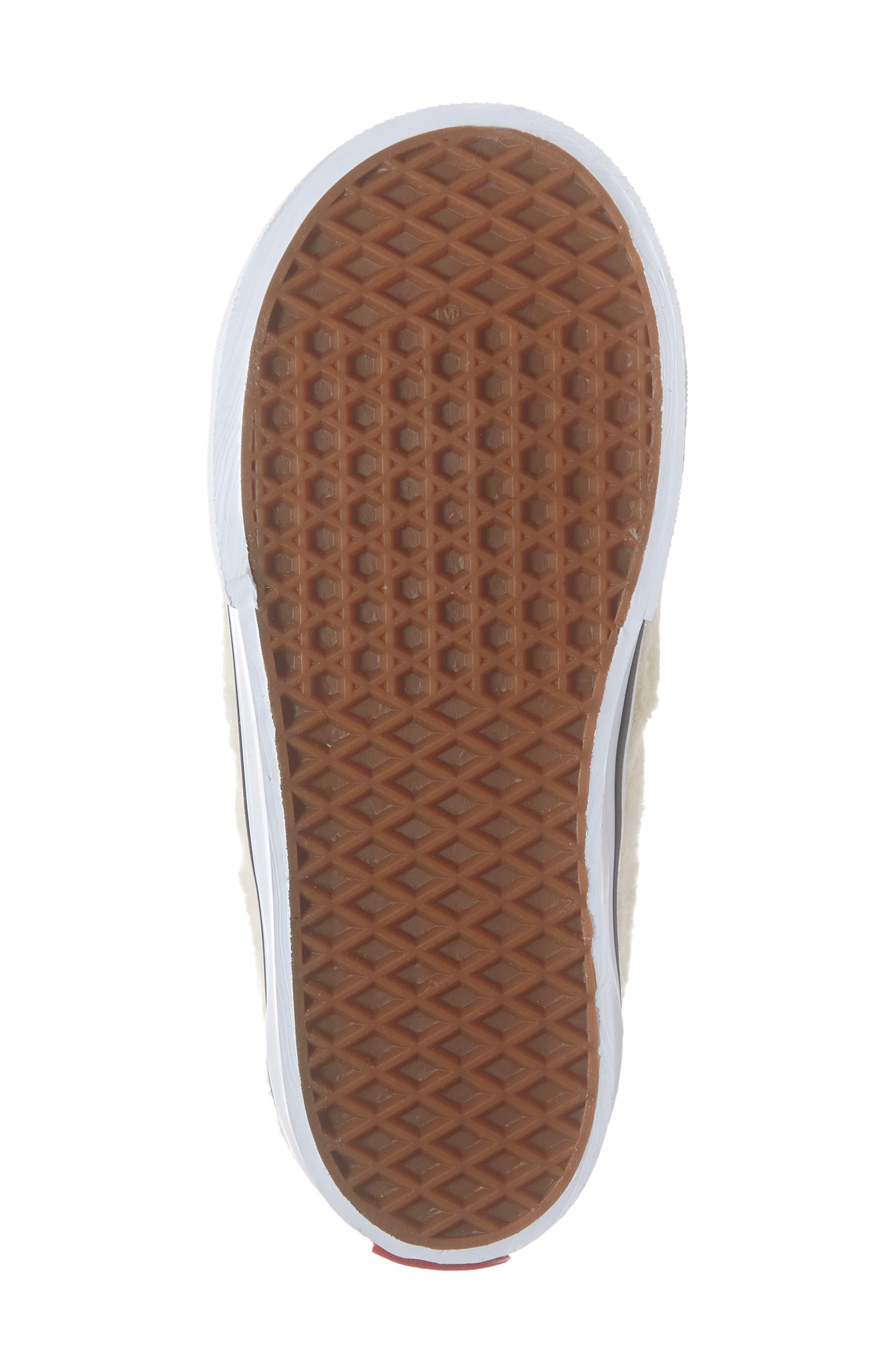 VANS, Slip-On Bunny Sneaker, Alternate thumbnail 6, color, VANILLA CUSTARD