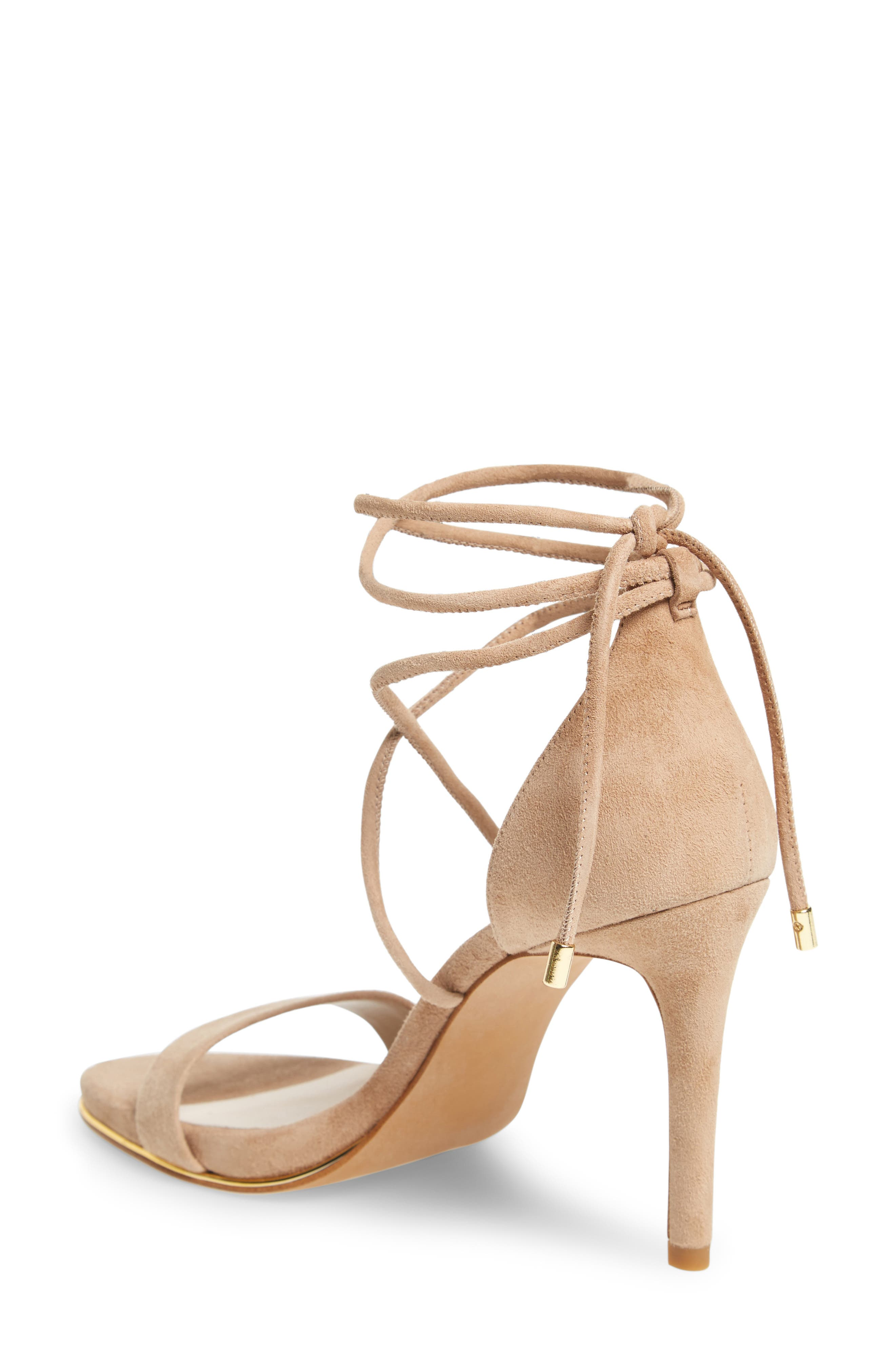 KENNETH COLE NEW YORK, Berry Wraparound Sandal, Alternate thumbnail 2, color, ALMOND SUEDE