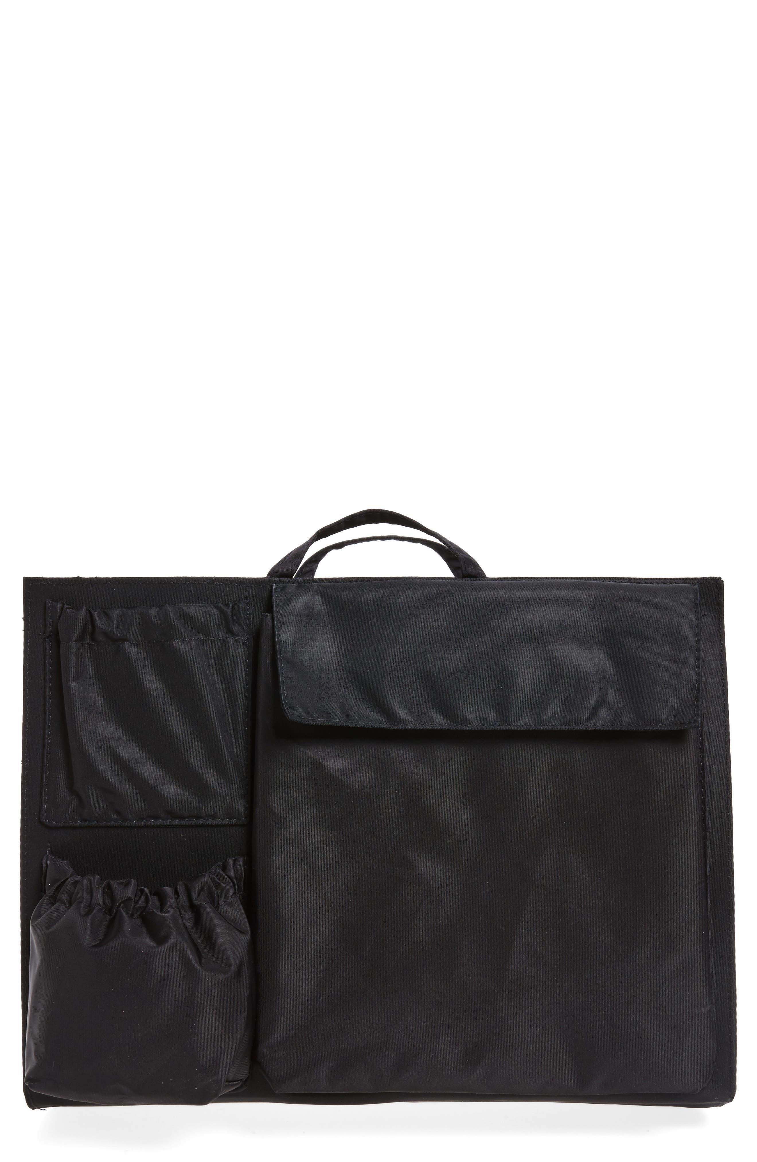 TOTESAVVY Organization Handbag Insert, Main, color, CLASSIC BLACK