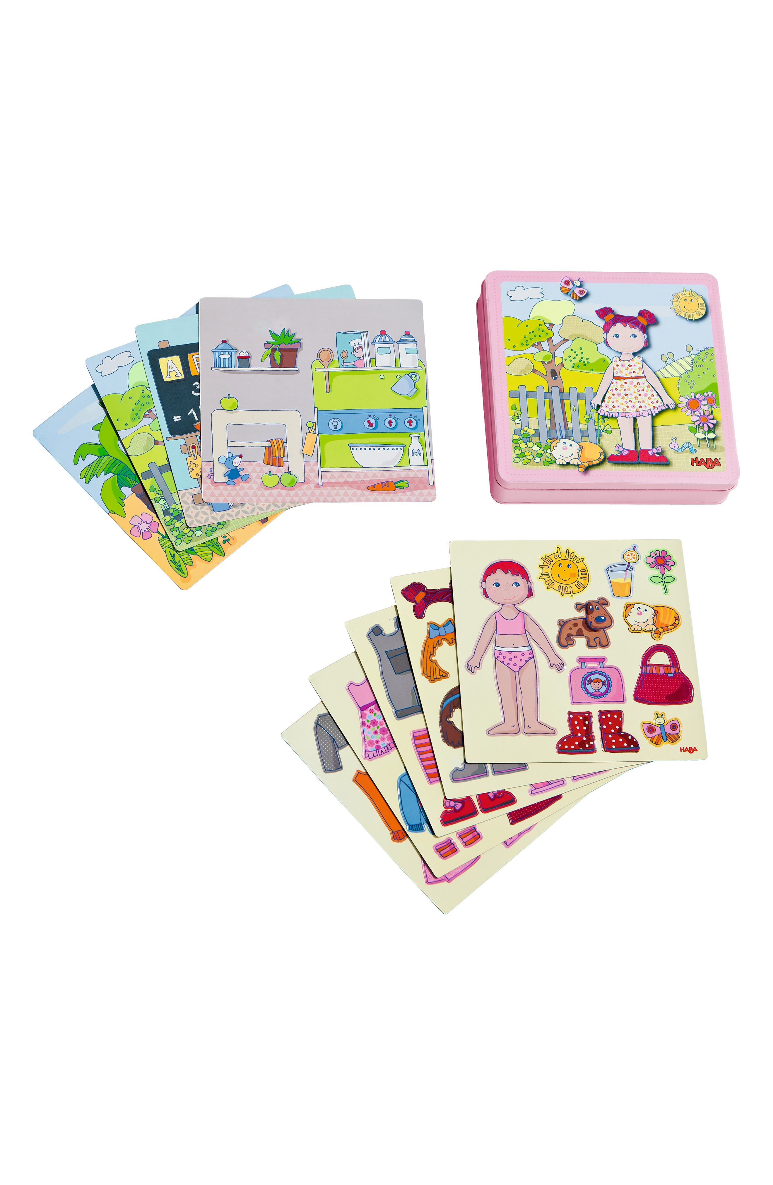 HABA Lilli Magnetic Doll Activity Set, Main, color, PINK