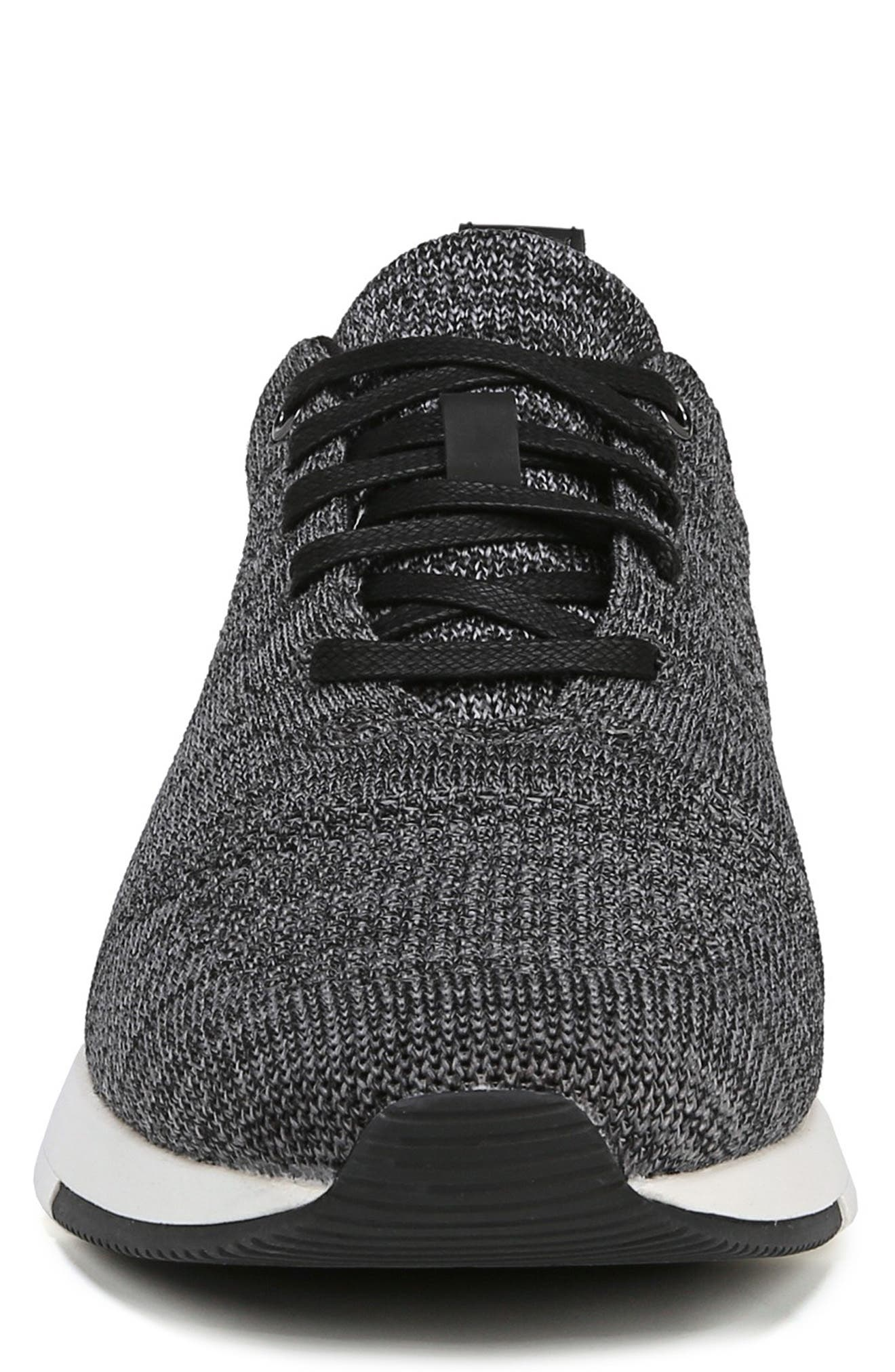 VINCE, Palo Knit Sneaker, Alternate thumbnail 4, color, MARL GREY/ BLACK